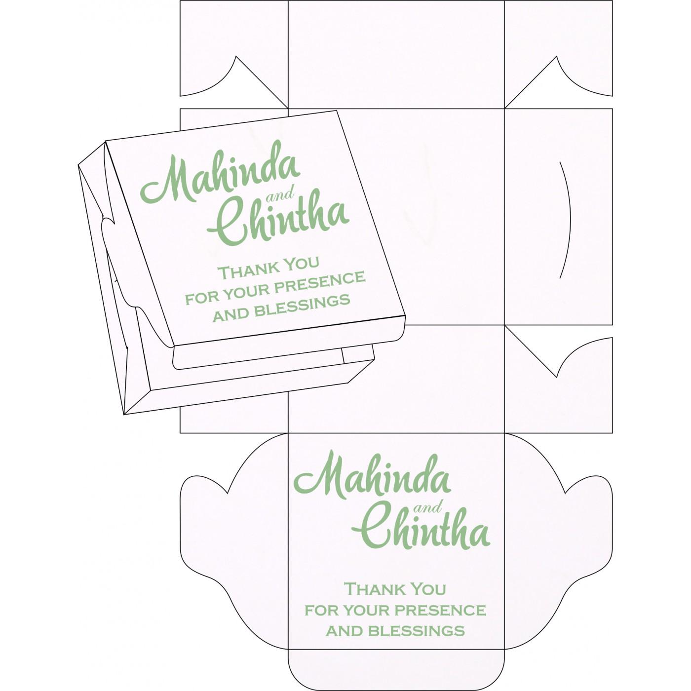 Sweet Boxes : CSB-1266 - IndianWeddingCards