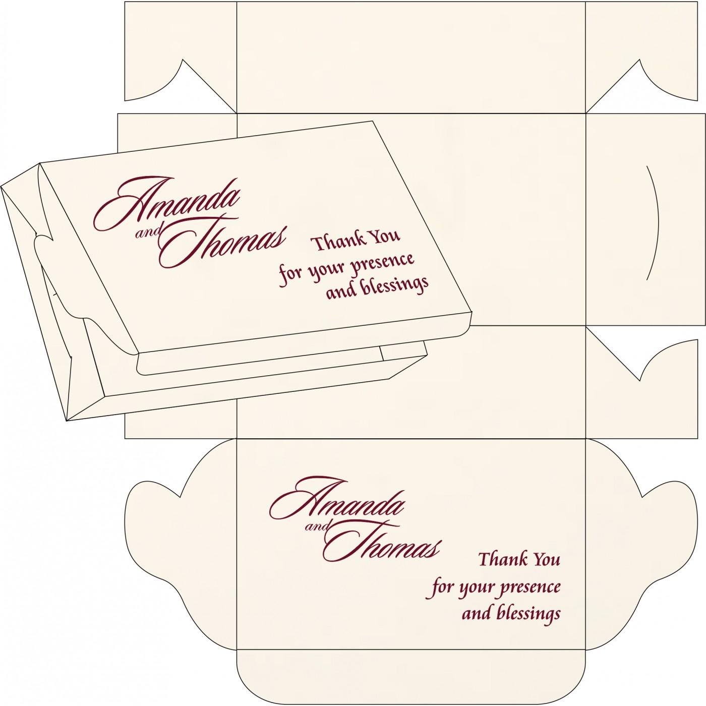 Sweet Boxes : CSB-1391 - IndianWeddingCards