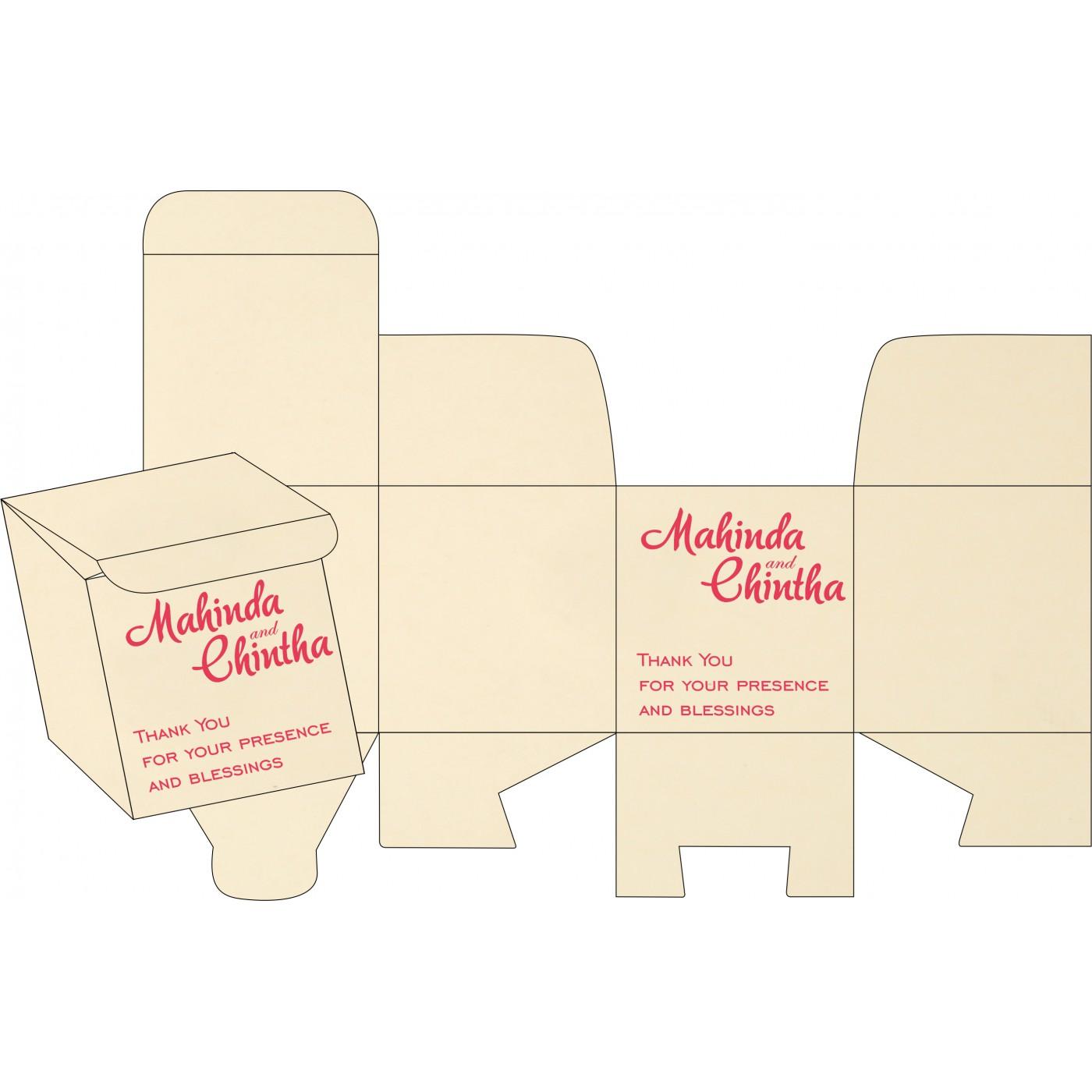 Sweet Boxes : CSB-1407 - IndianWeddingCards