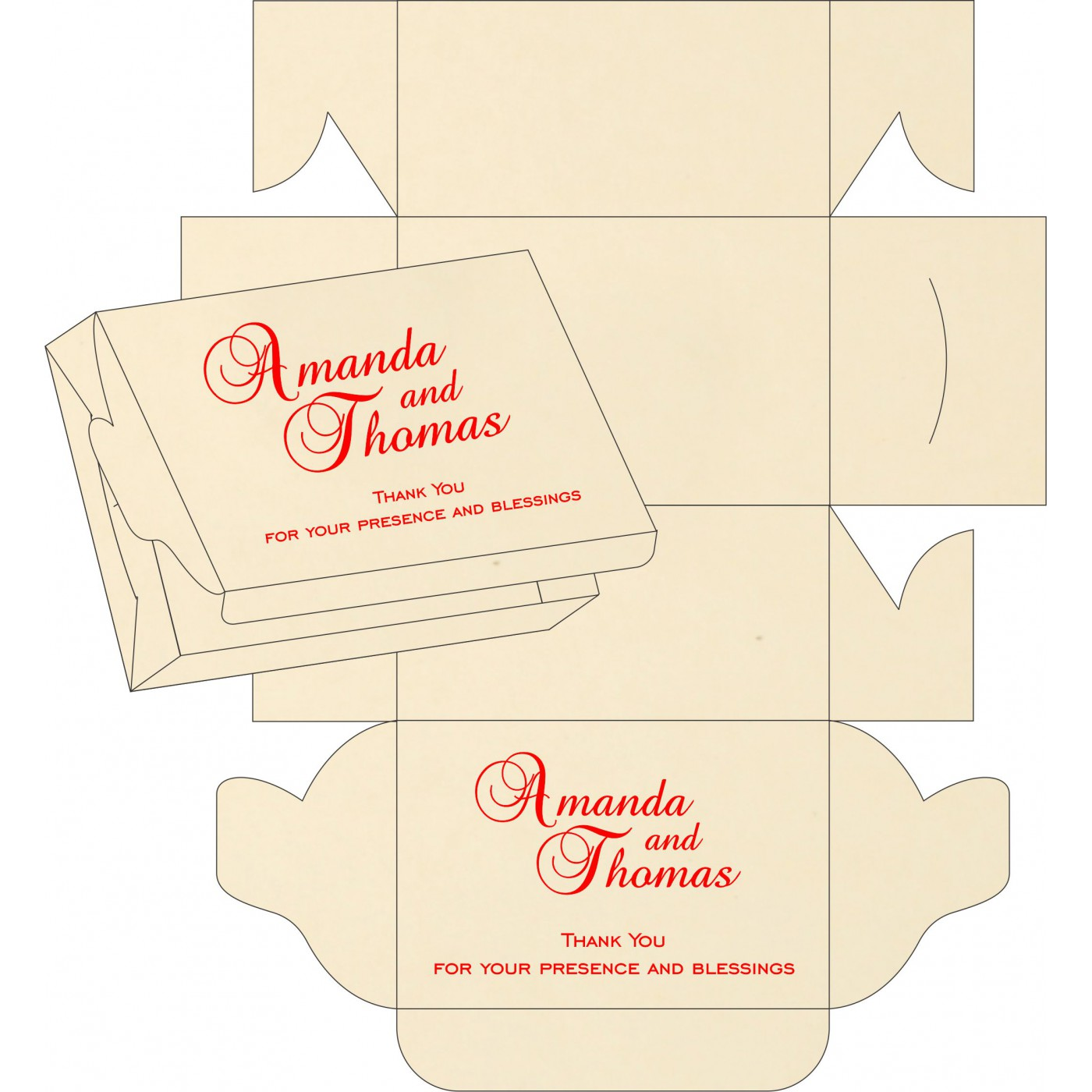 Sweet Boxes : CSB-1412 - IndianWeddingCards