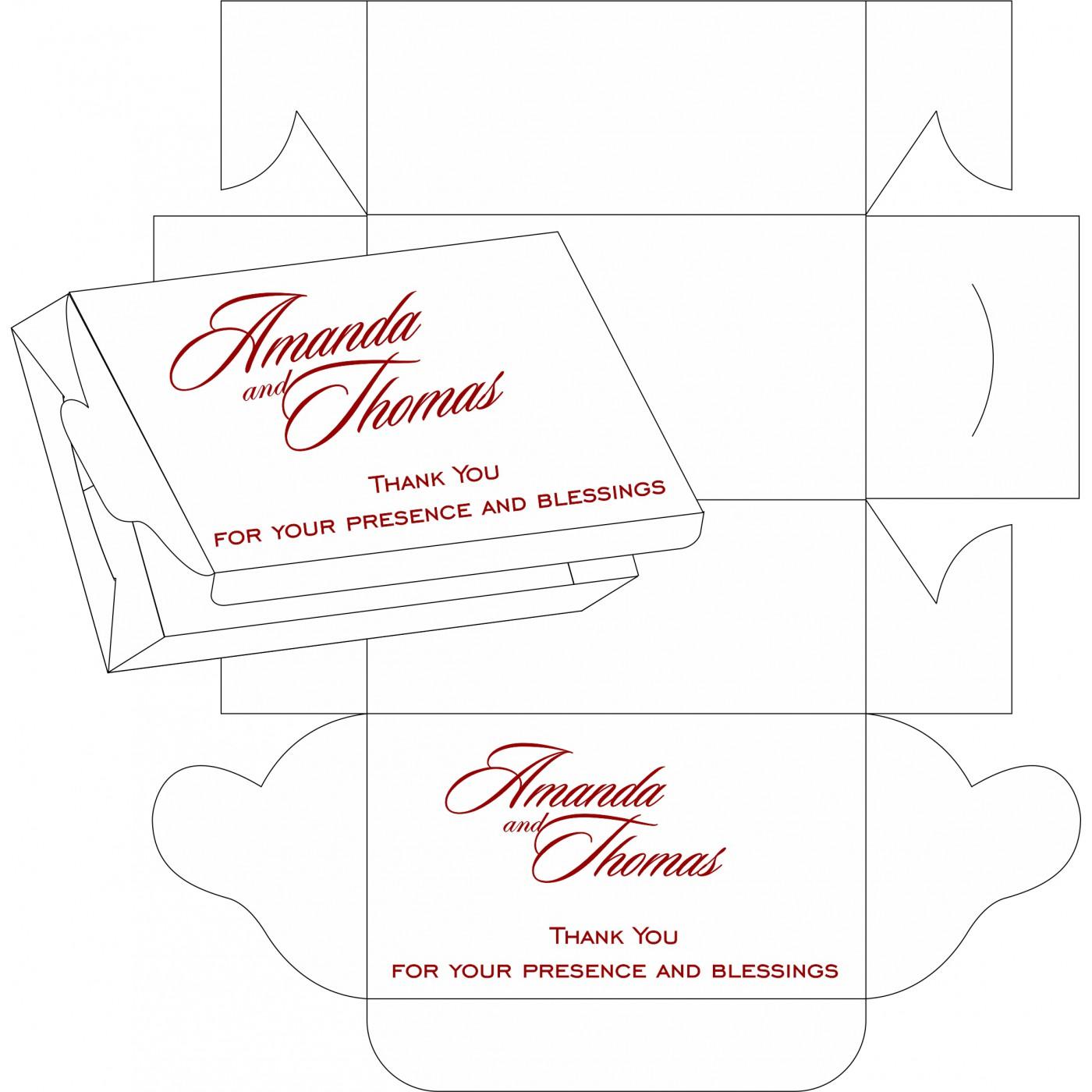 Sweet Boxes : CSB-1427 - IndianWeddingCards