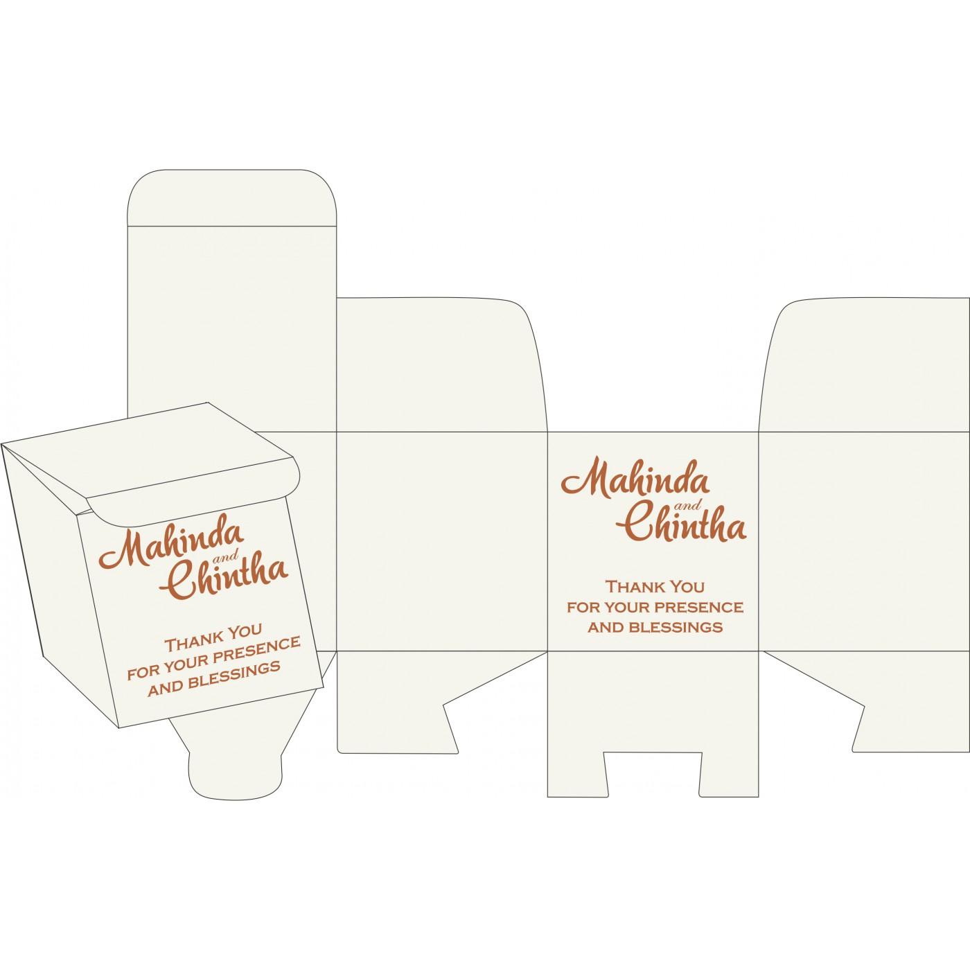 Sweet Boxes : CSB-5015K - IndianWeddingCards