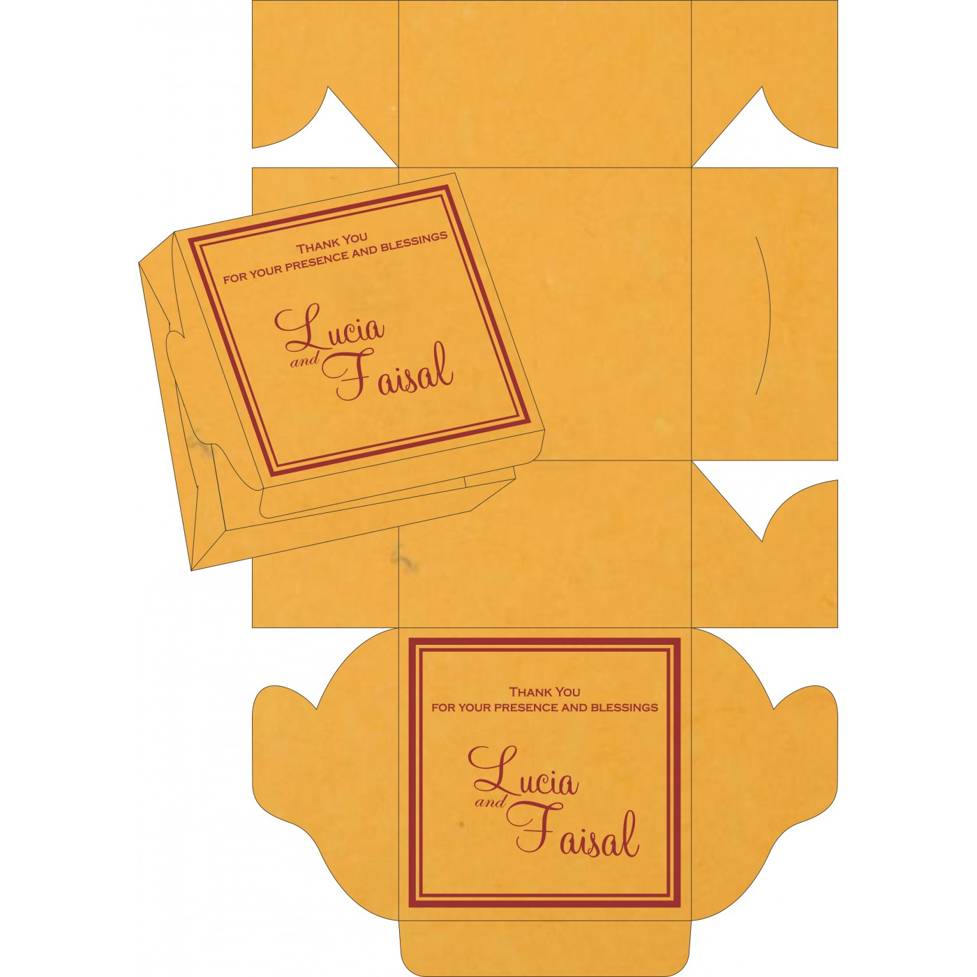 Sweet Boxes : CSB-8203A - IndianWeddingCards