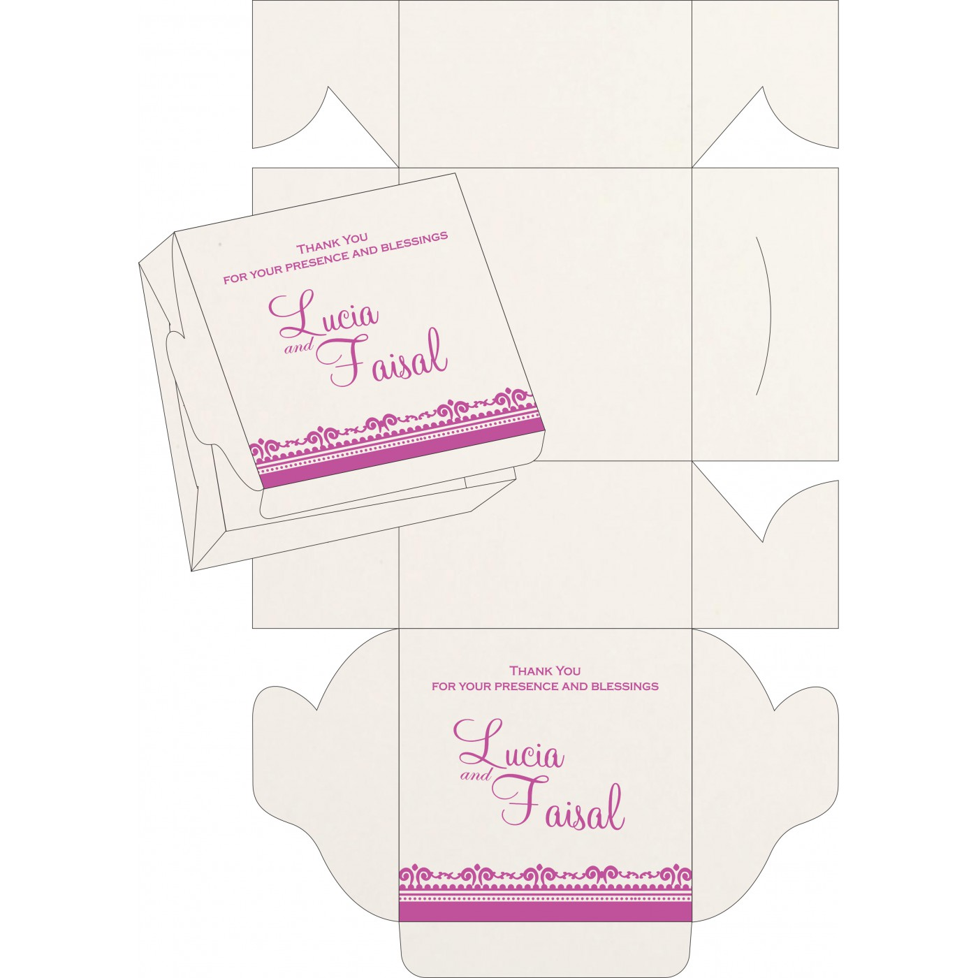 Sweet Boxes : CSB-8205A - IndianWeddingCards