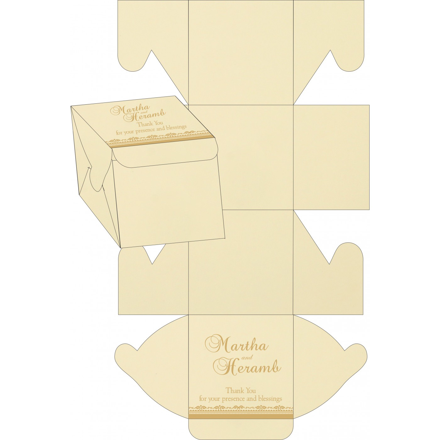 Sweet Boxes : CSB-8205D - IndianWeddingCards