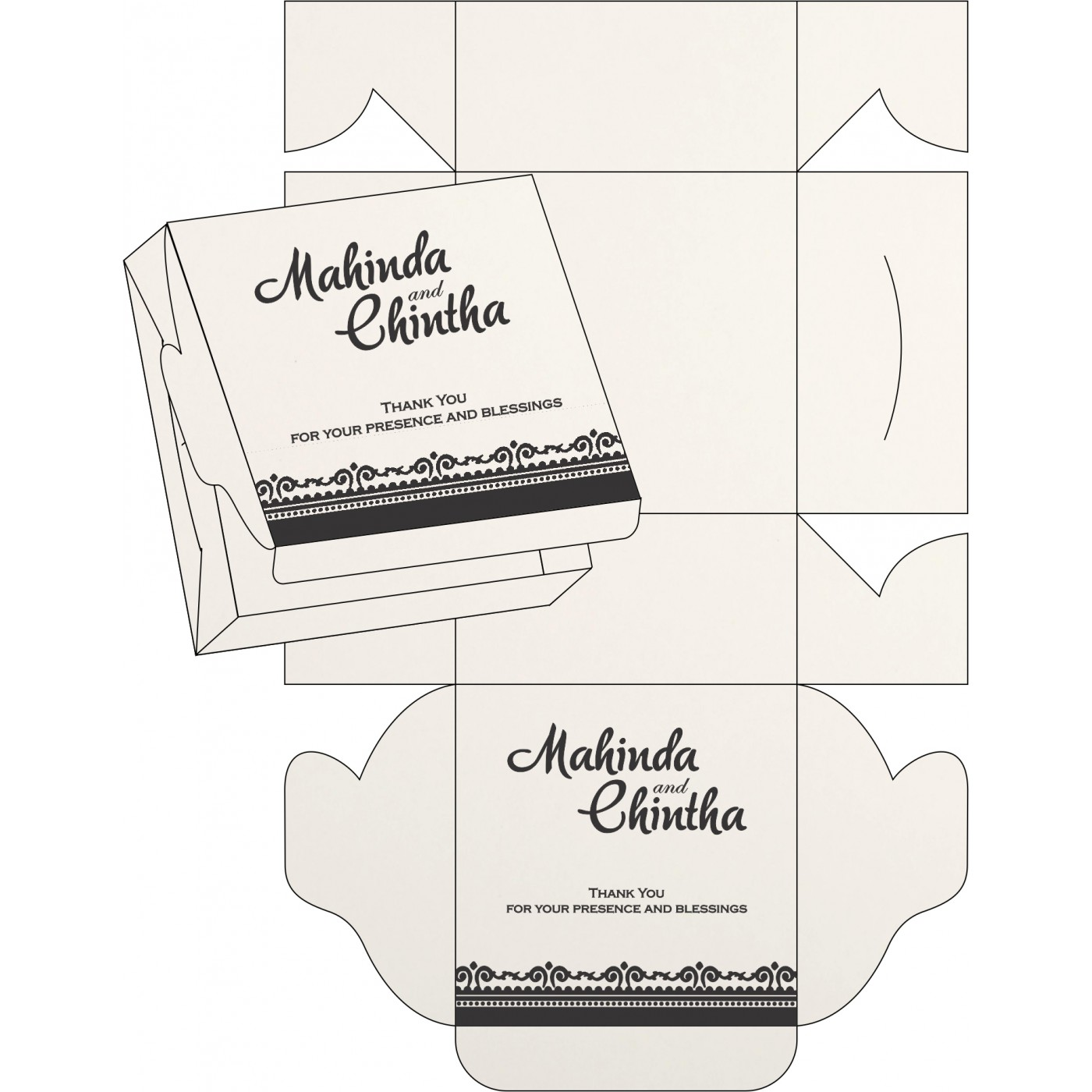 Sweet Boxes : CSB-8205L - IndianWeddingCards