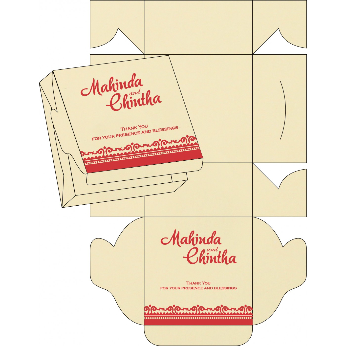 Sweet Boxes : CSB-8205R - IndianWeddingCards