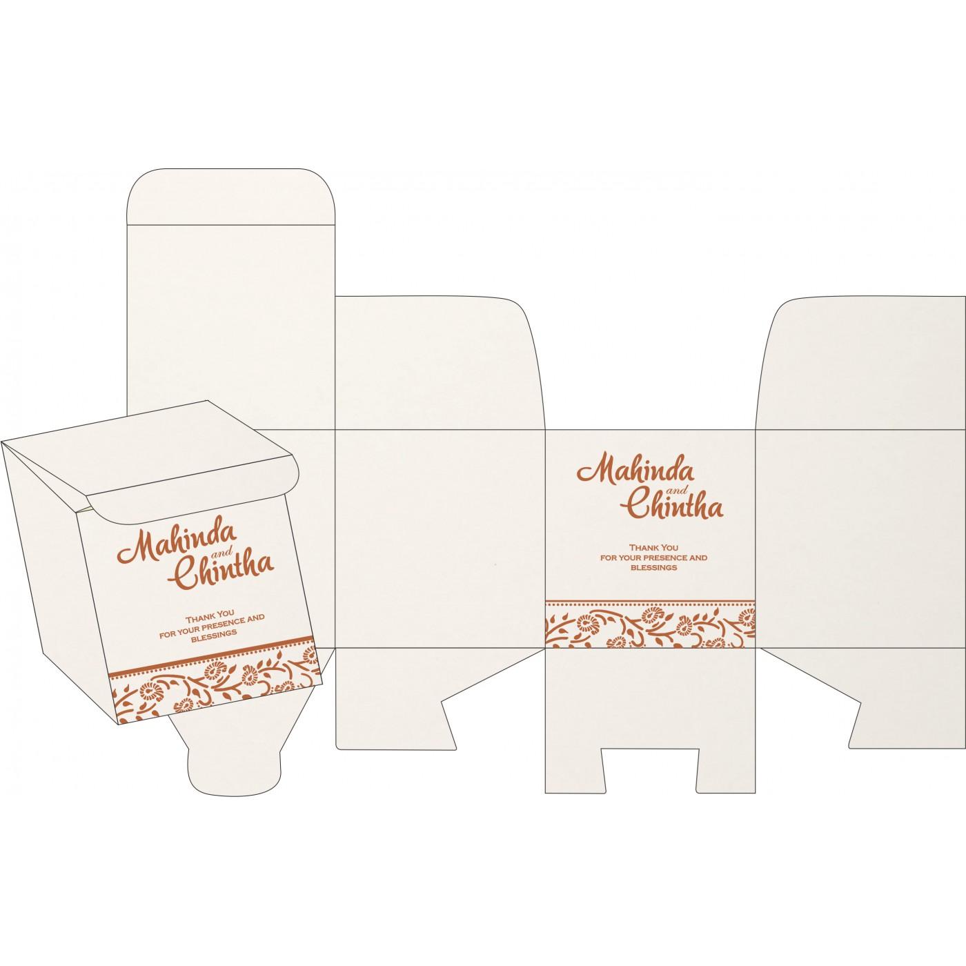 Sweet Boxes : CSB-8206G - IndianWeddingCards