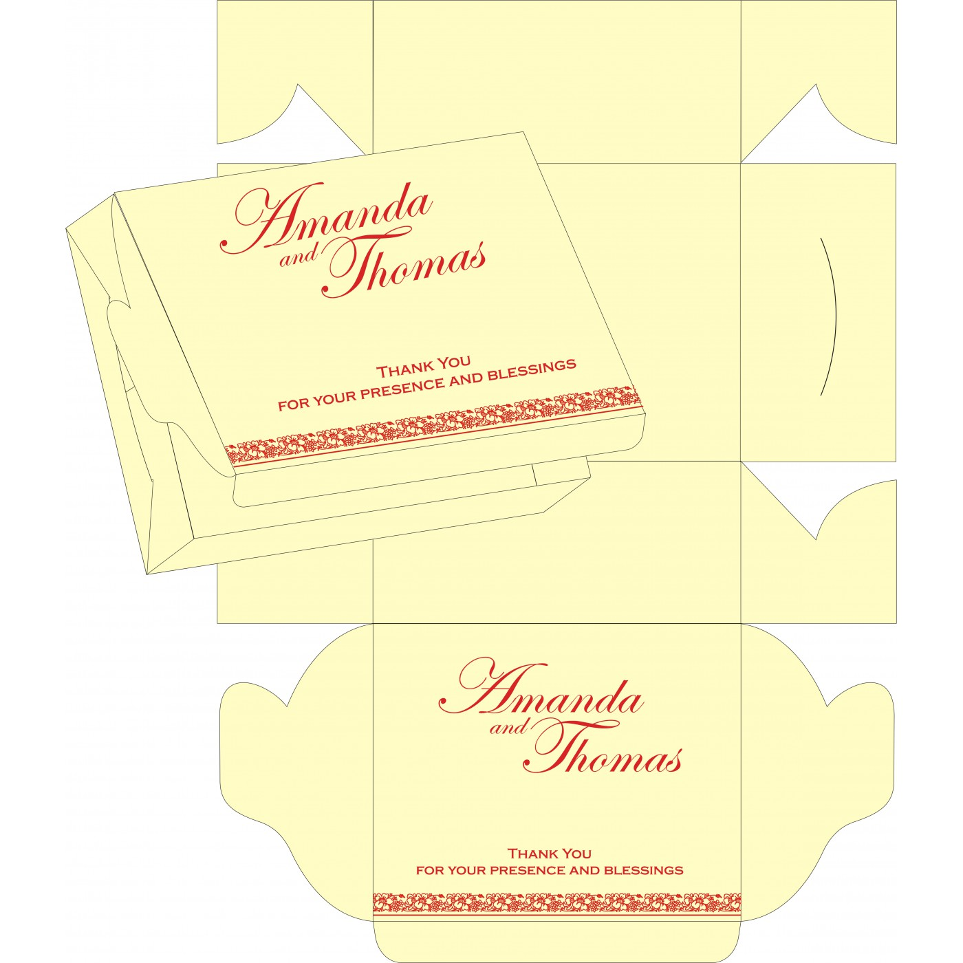Sweet Boxes : CSB-8207A - IndianWeddingCards