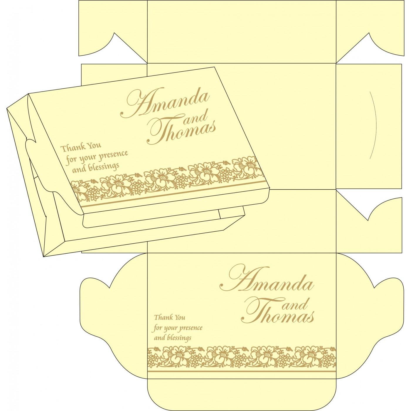 Sweet Boxes : CSB-8207F - IndianWeddingCards