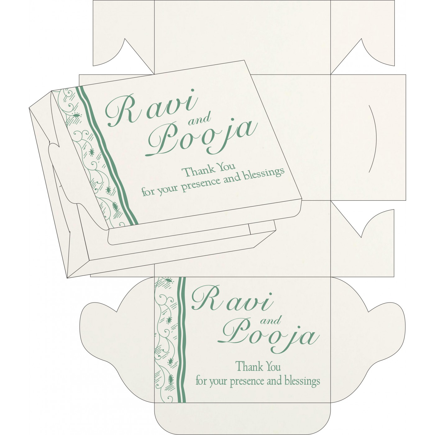 Sweet Boxes : CSB-8210E - IndianWeddingCards