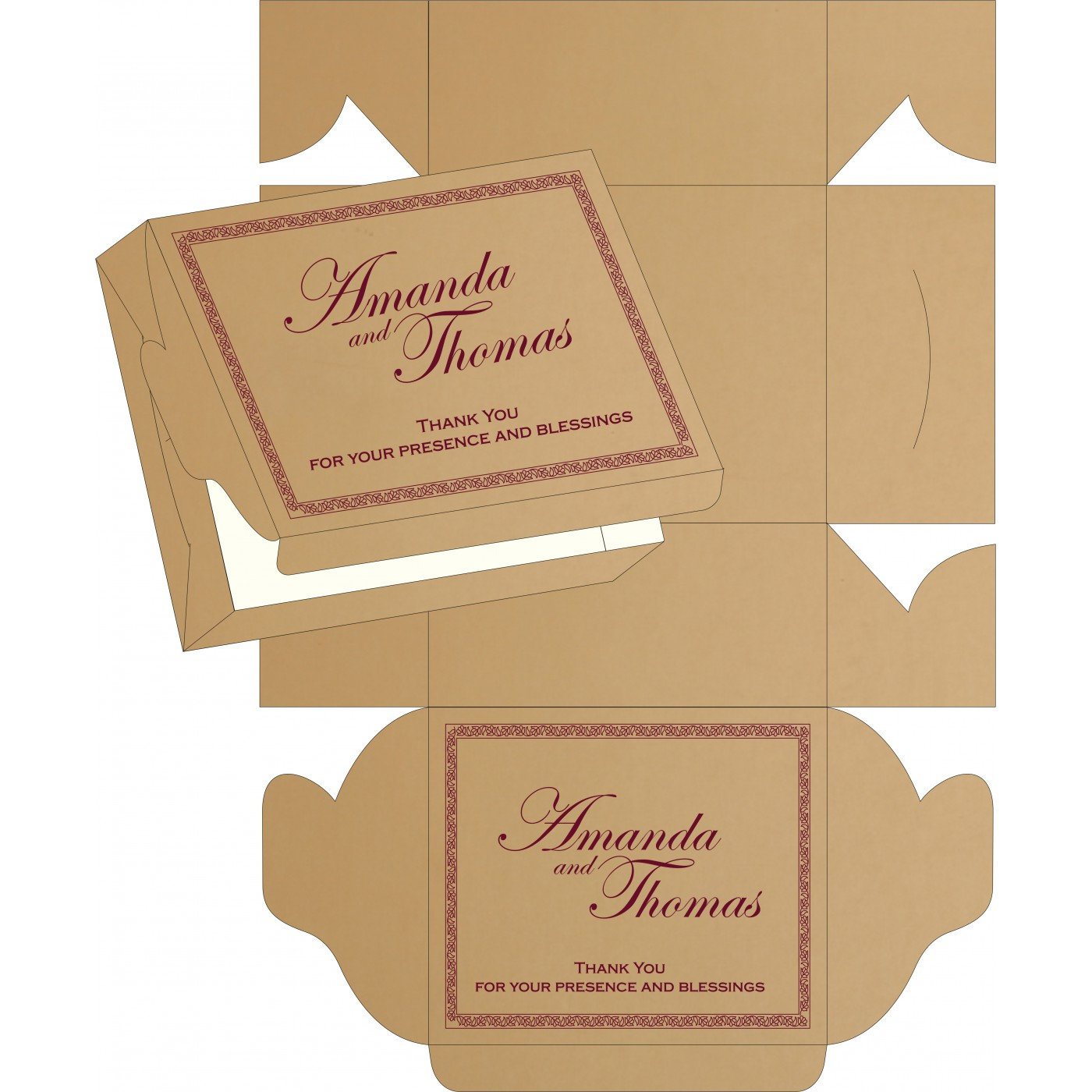 Sweet Boxes : CSB-8211A - IndianWeddingCards