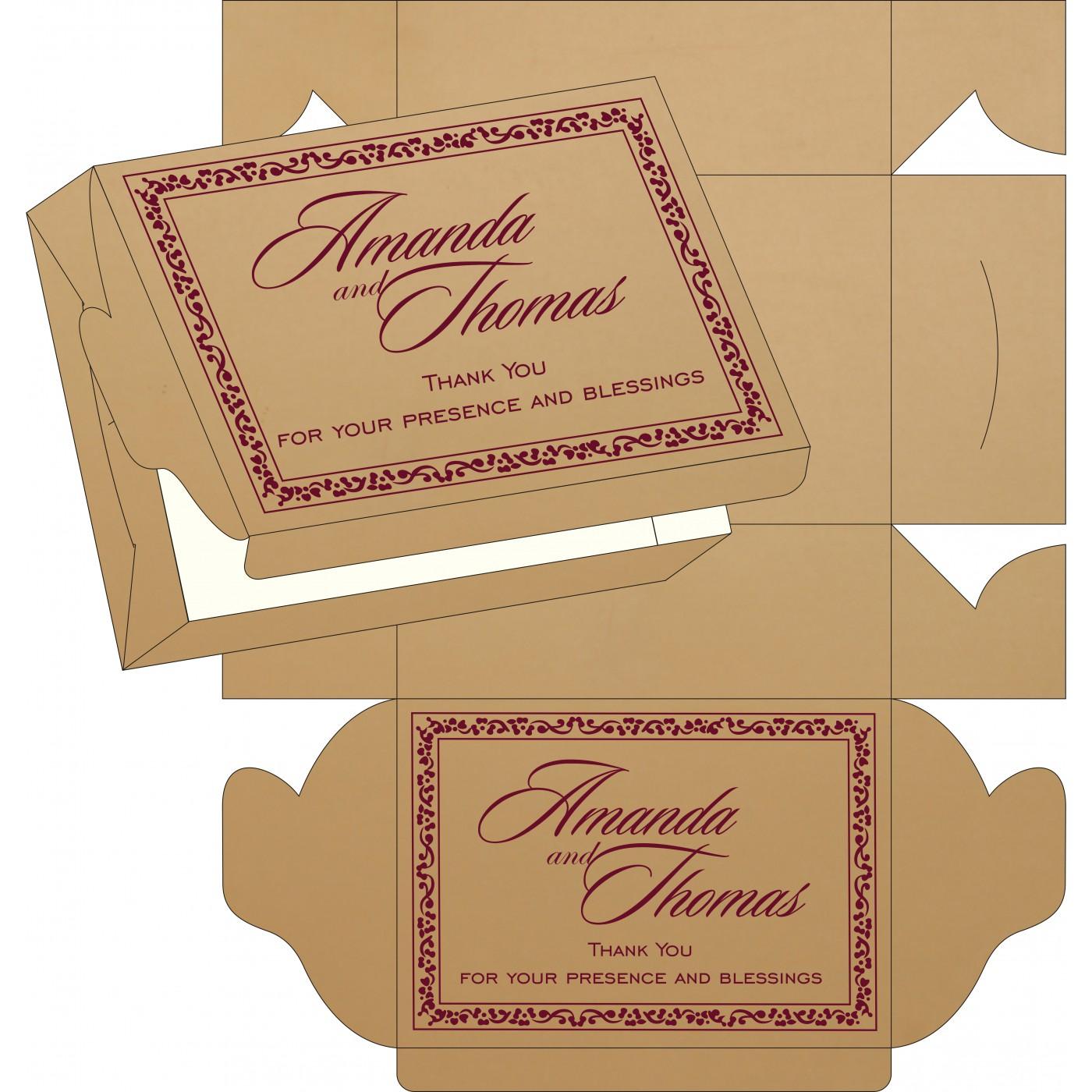 Sweet Boxes : CSB-8214C - IndianWeddingCards