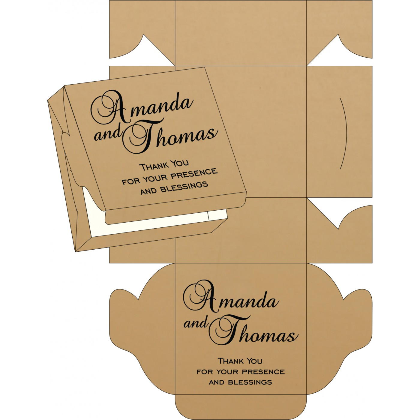 Sweet Boxes : CSB-8214D - IndianWeddingCards