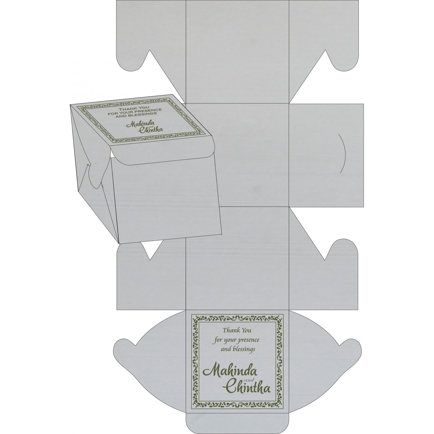 Sweet Boxes : CSB-8214L - IndianWeddingCards