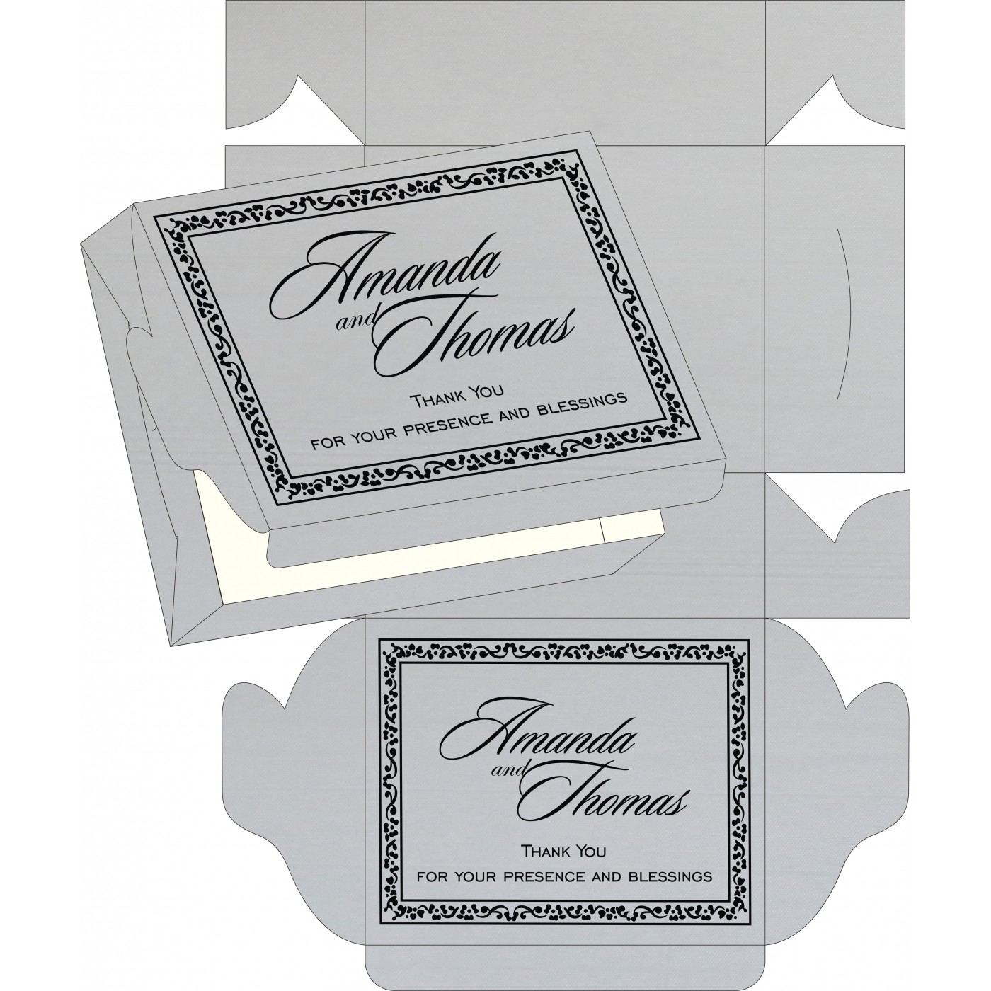 Sweet Boxes : CSB-8214N - IndianWeddingCards