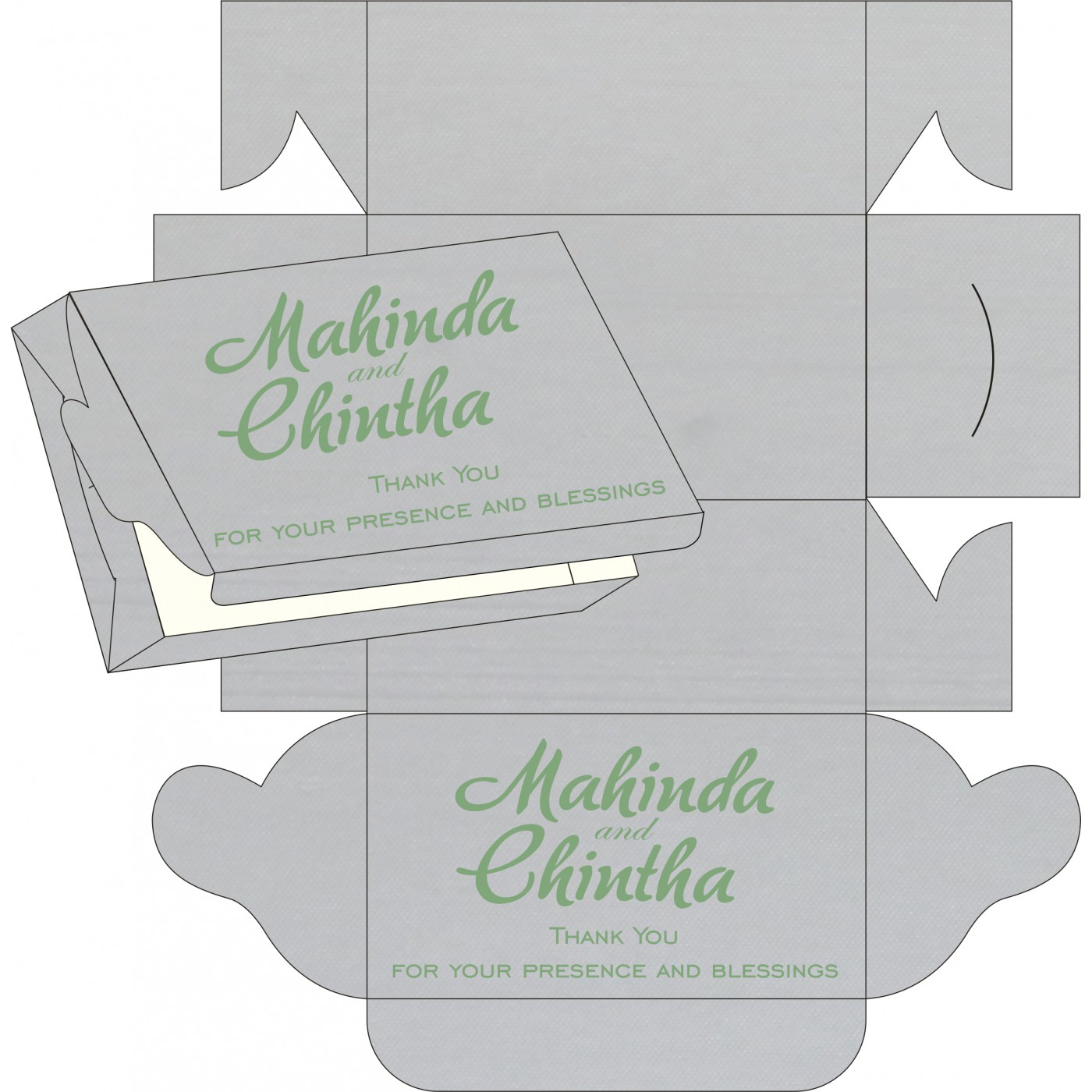 Sweet Boxes : CSB-8214P - IndianWeddingCards