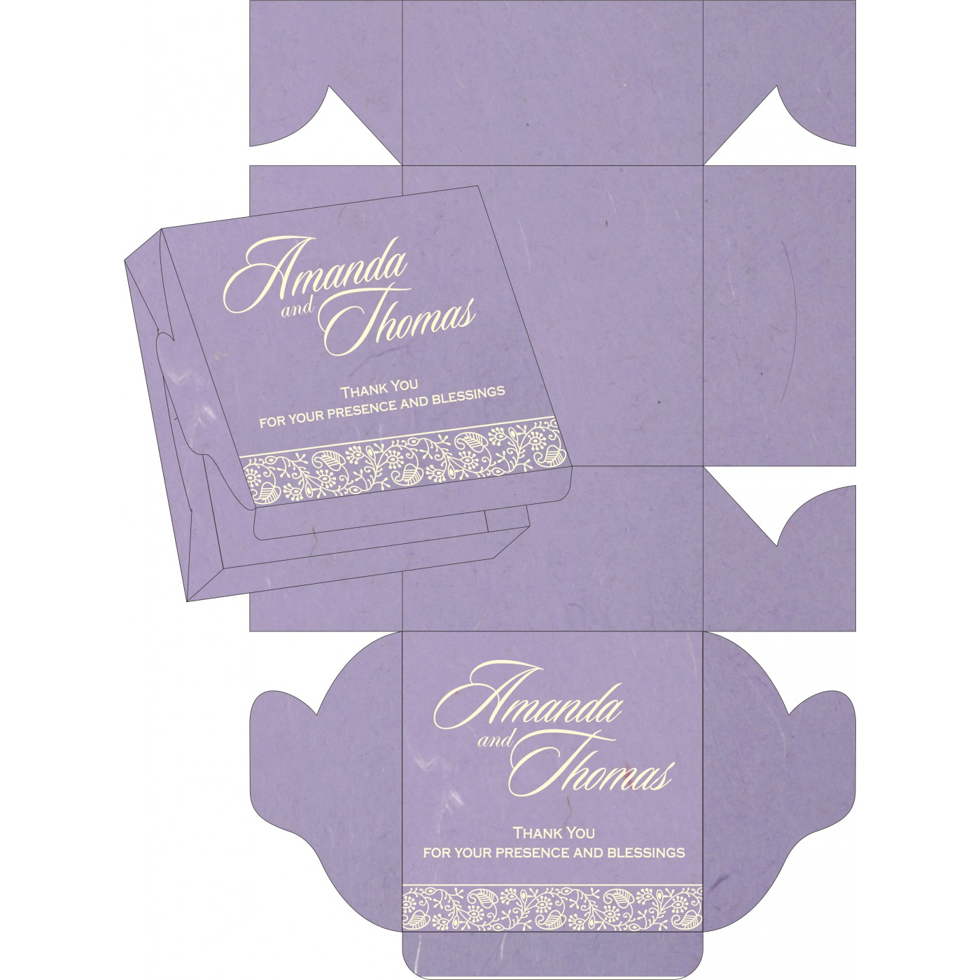 Sweet Boxes : CSB-8215B - IndianWeddingCards