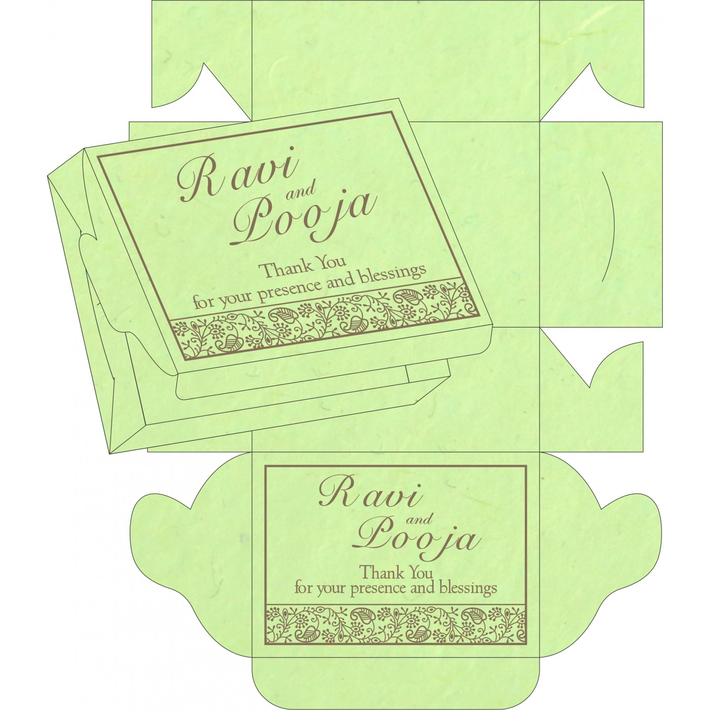 Sweet Boxes : CSB-8215D - IndianWeddingCards