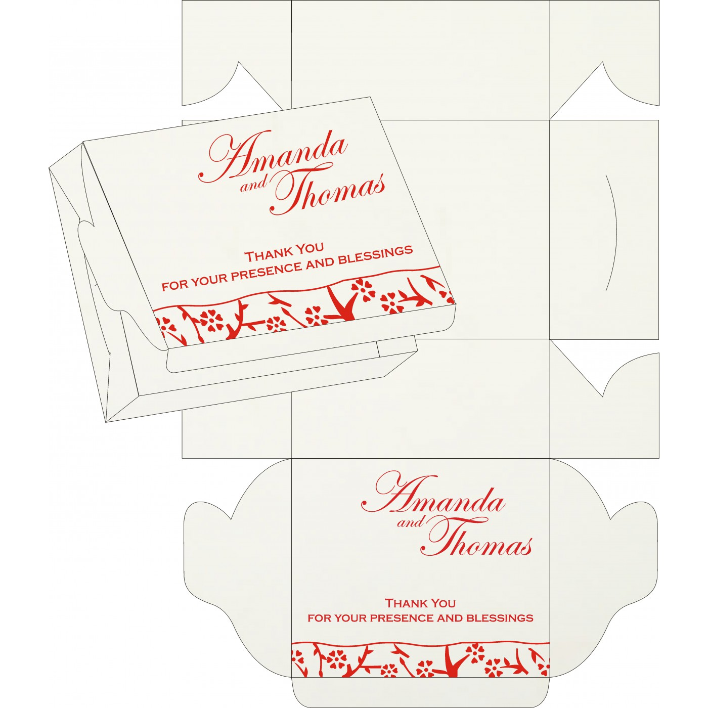 Sweet Boxes : CSB-8216A - IndianWeddingCards