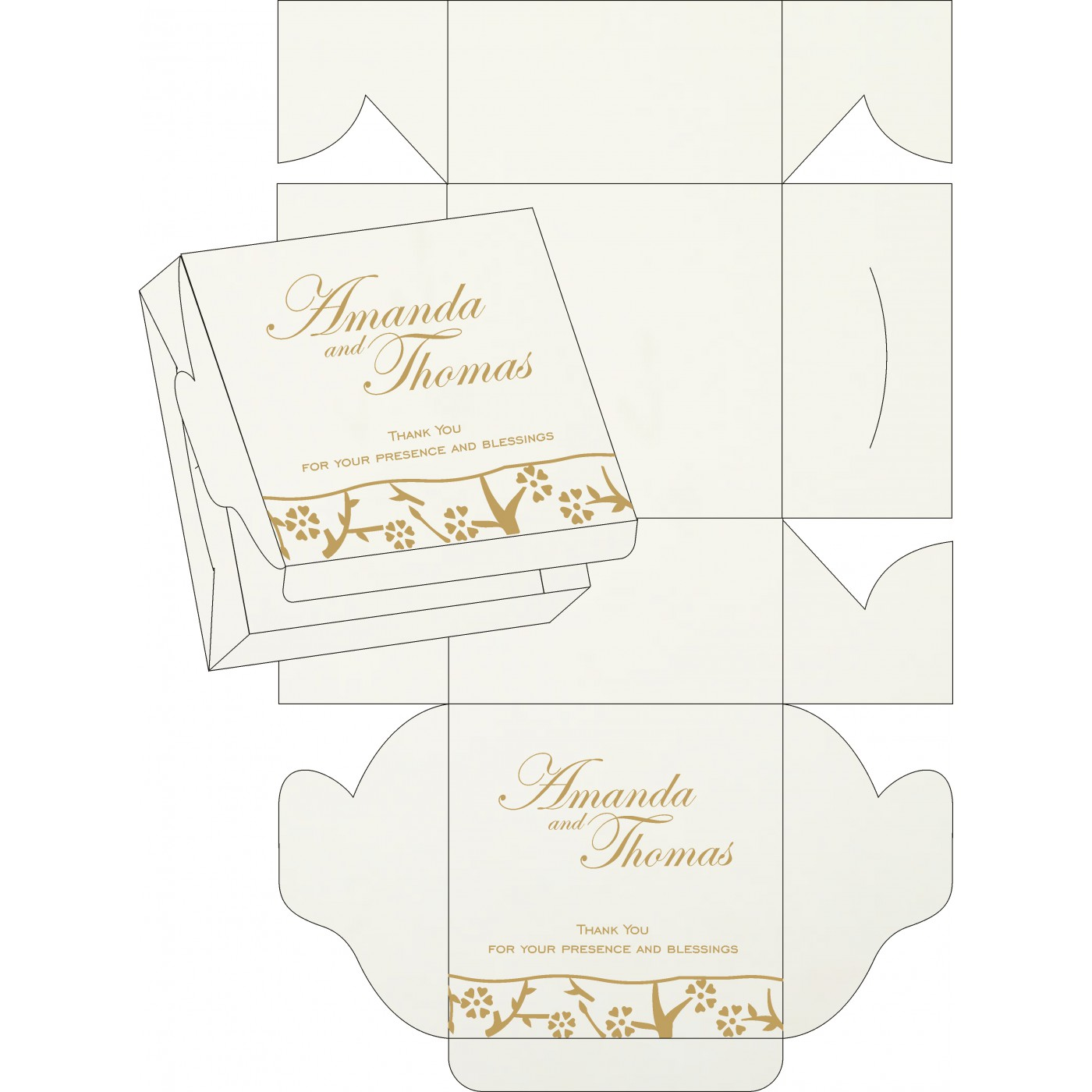 Sweet Boxes : CSB-8216L - IndianWeddingCards