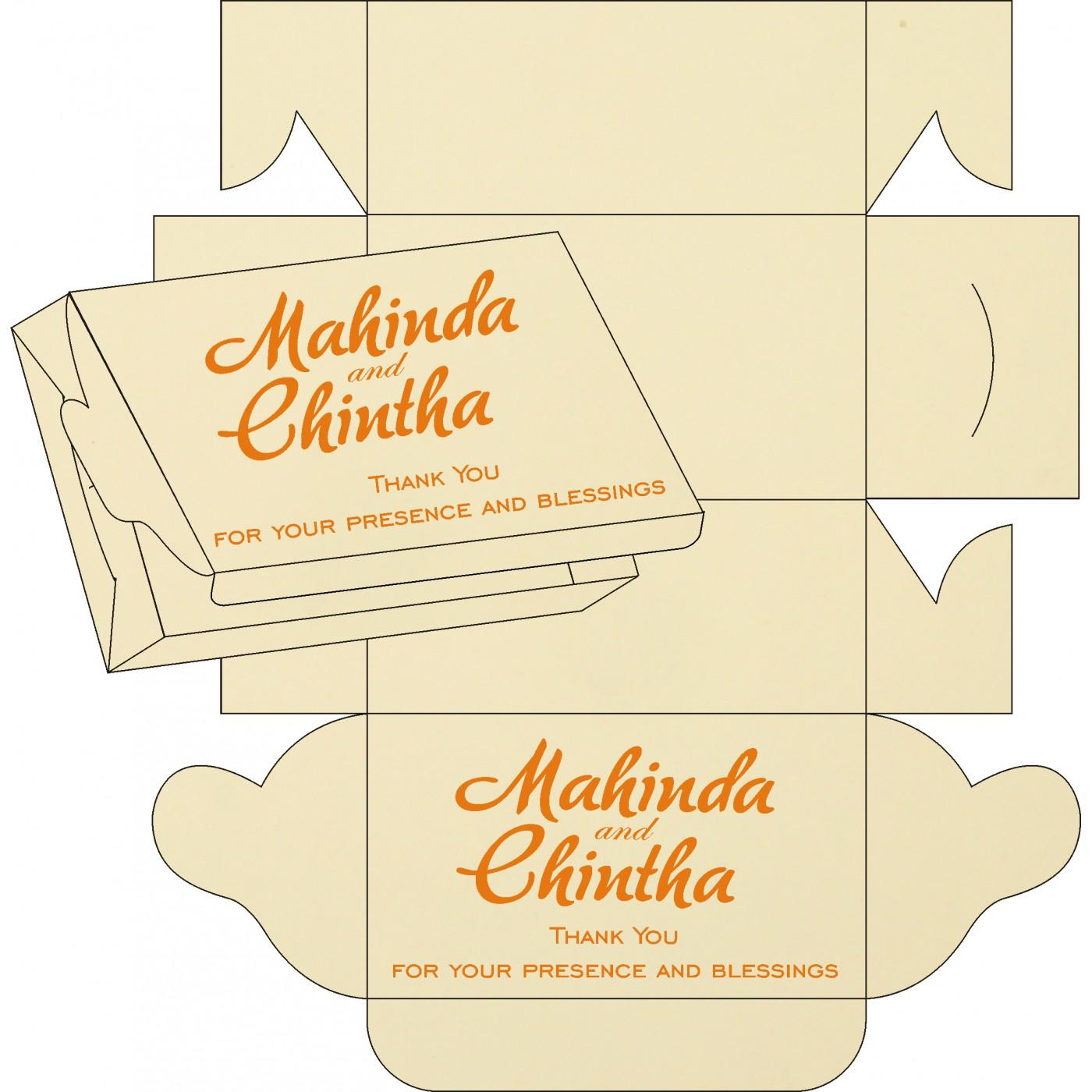 Sweet Boxes : CSB-8216O - IndianWeddingCards
