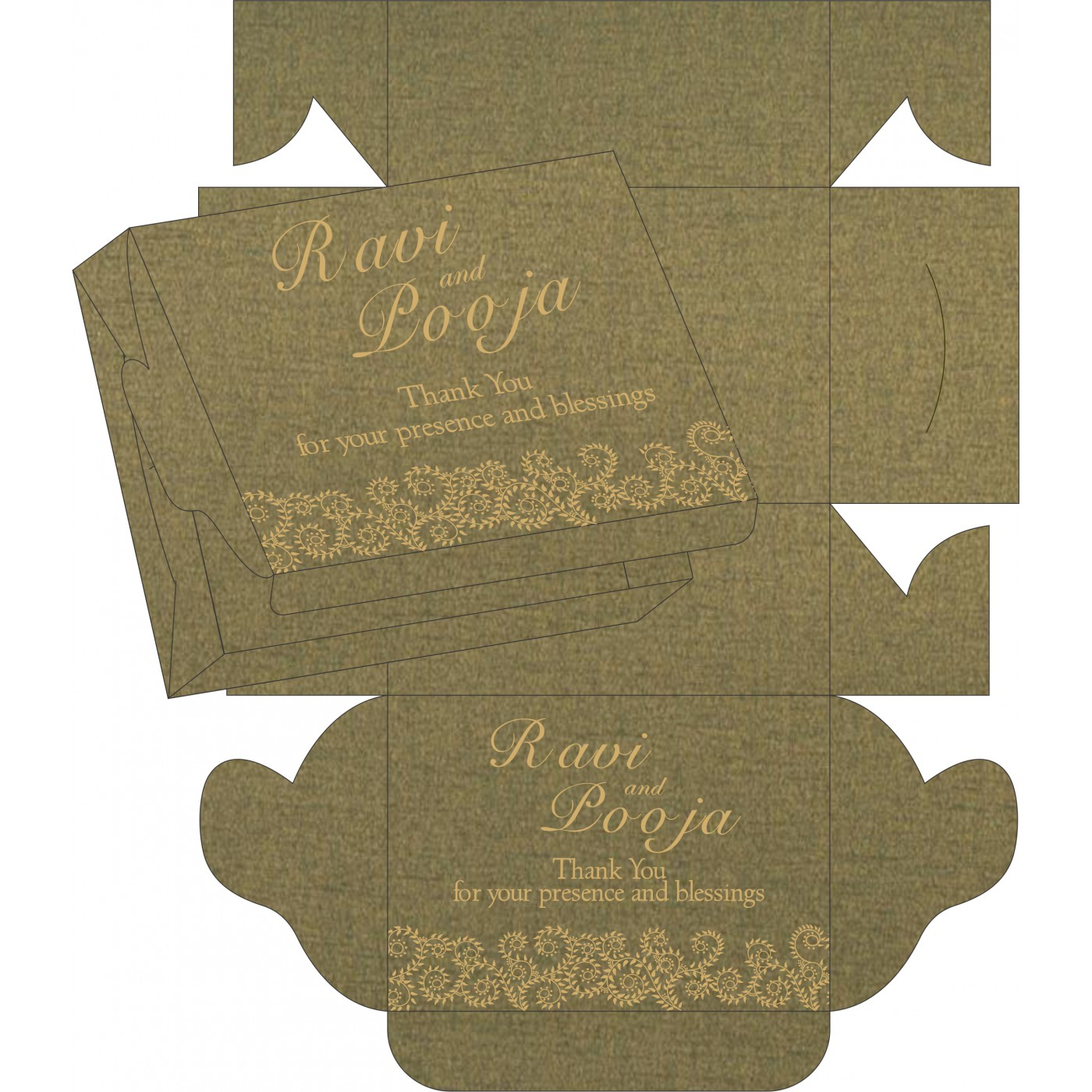 Sweet Boxes : CSB-8217H - IndianWeddingCards