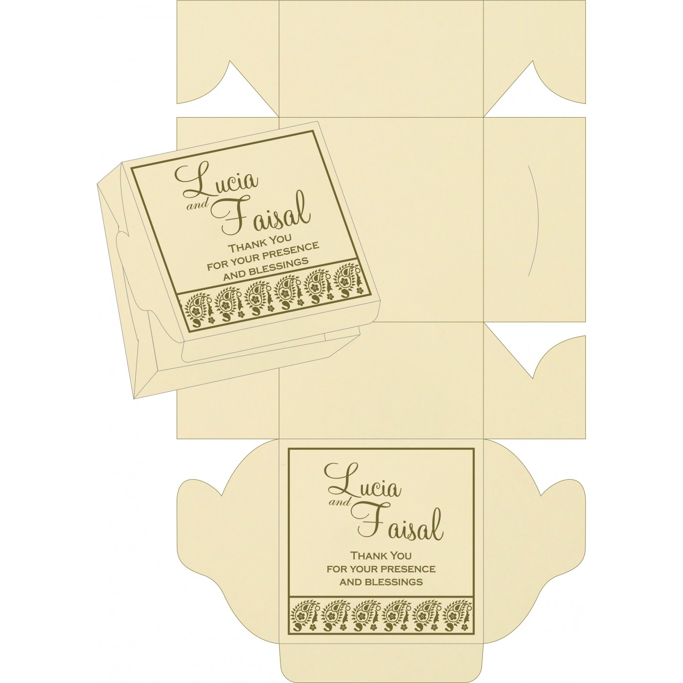 Sweet Boxes : CSB-8218A - IndianWeddingCards