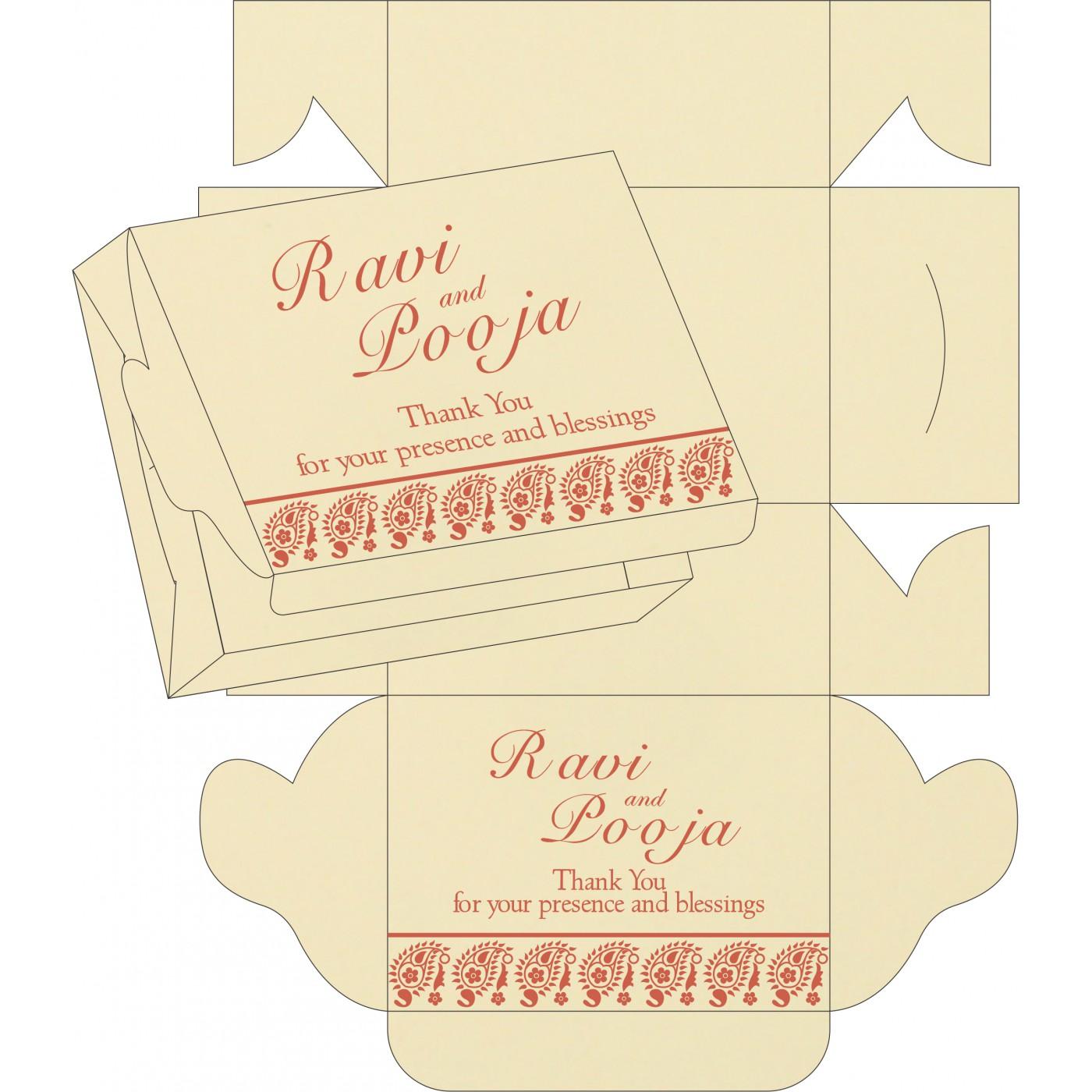 Sweet Boxes : CSB-8218E - IndianWeddingCards