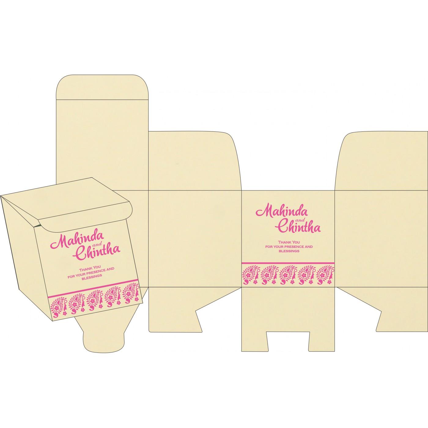 Sweet Boxes : CSB-8218F - IndianWeddingCards