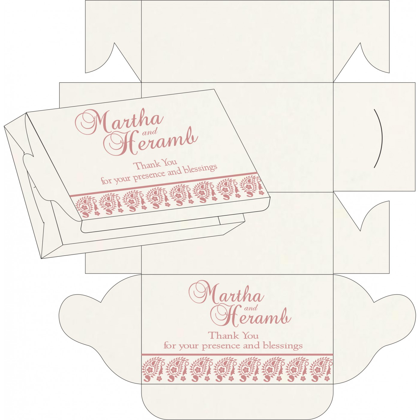 Sweet Boxes : CSB-8218J - IndianWeddingCards