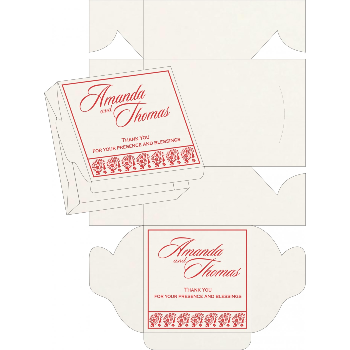 Sweet Boxes : CSB-8218M - IndianWeddingCards