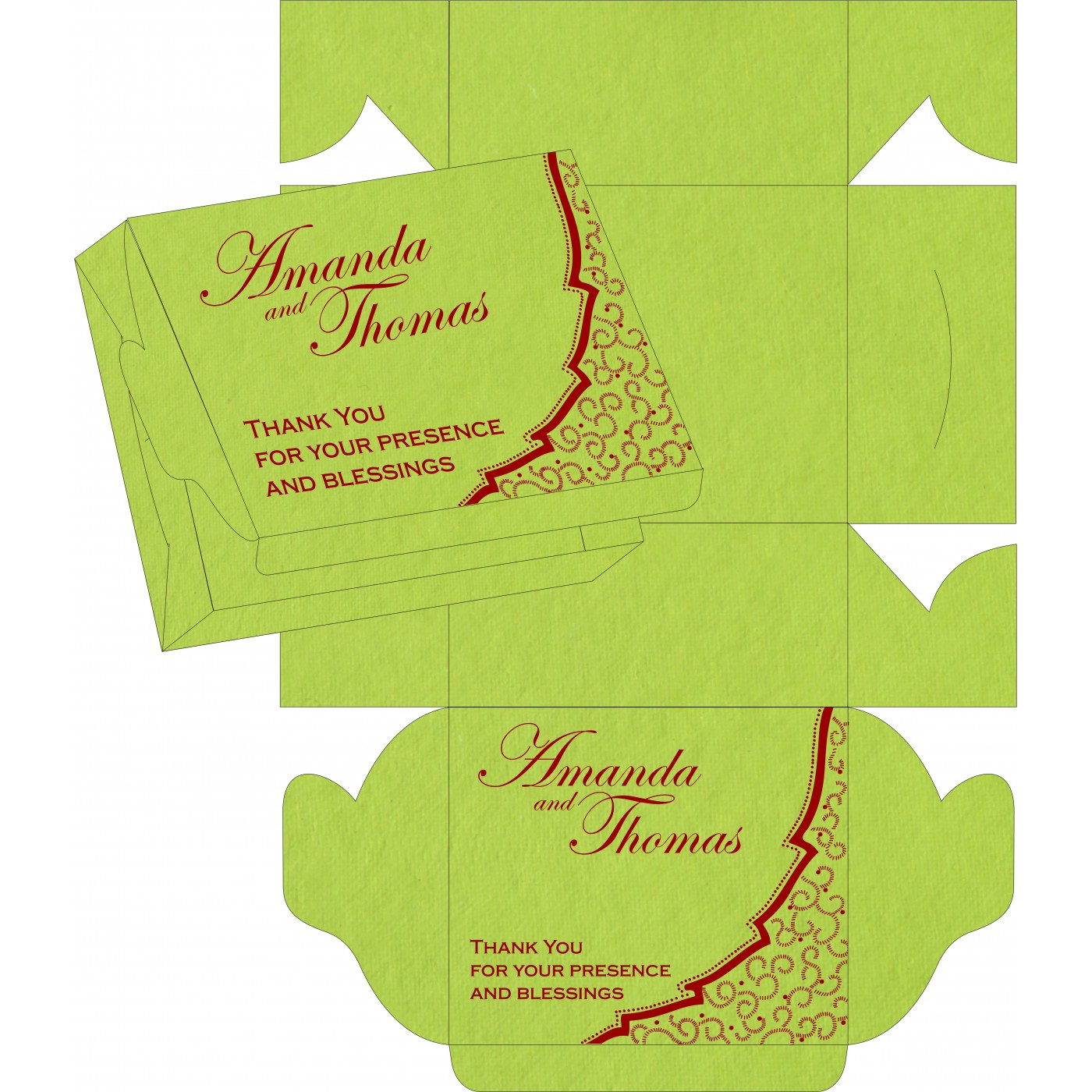 Sweet Boxes : CSB-8219A - IndianWeddingCards