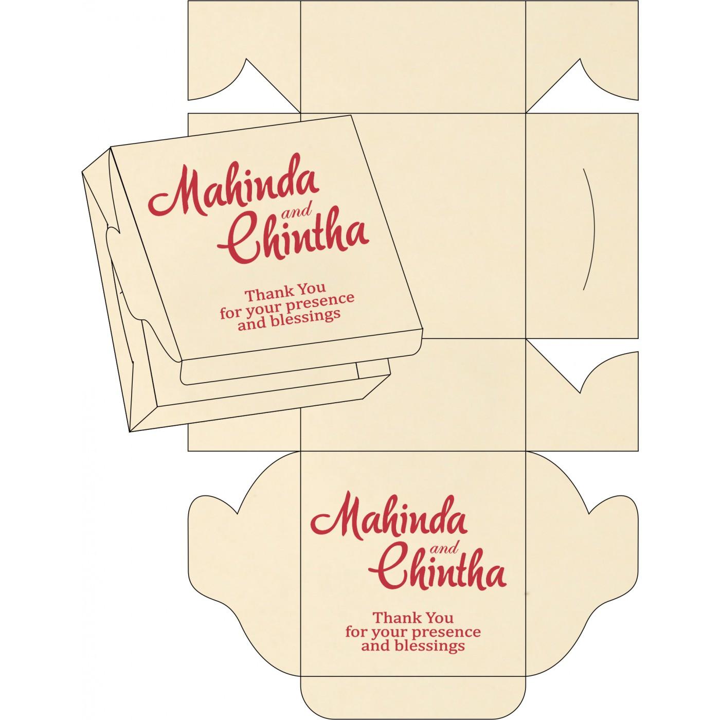 Sweet Boxes : CSB-8220O - IndianWeddingCards