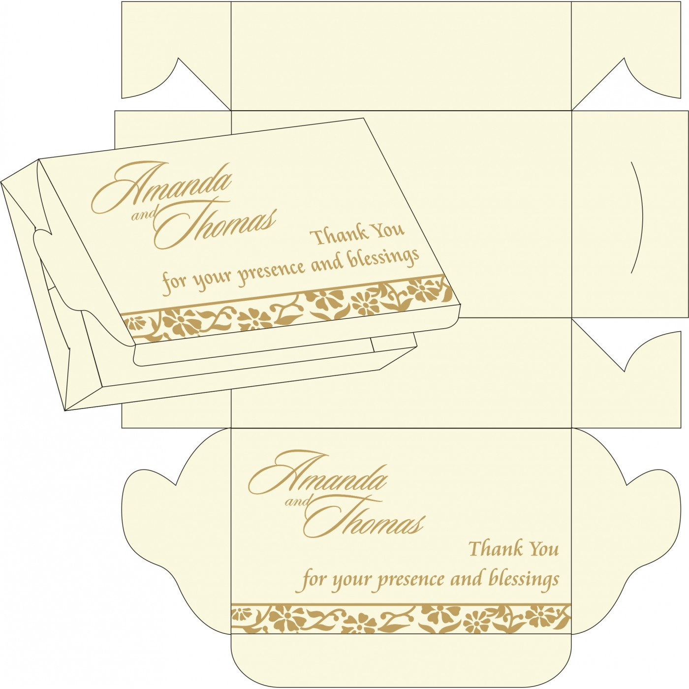 Sweet Boxes : CSB-8222I - IndianWeddingCards