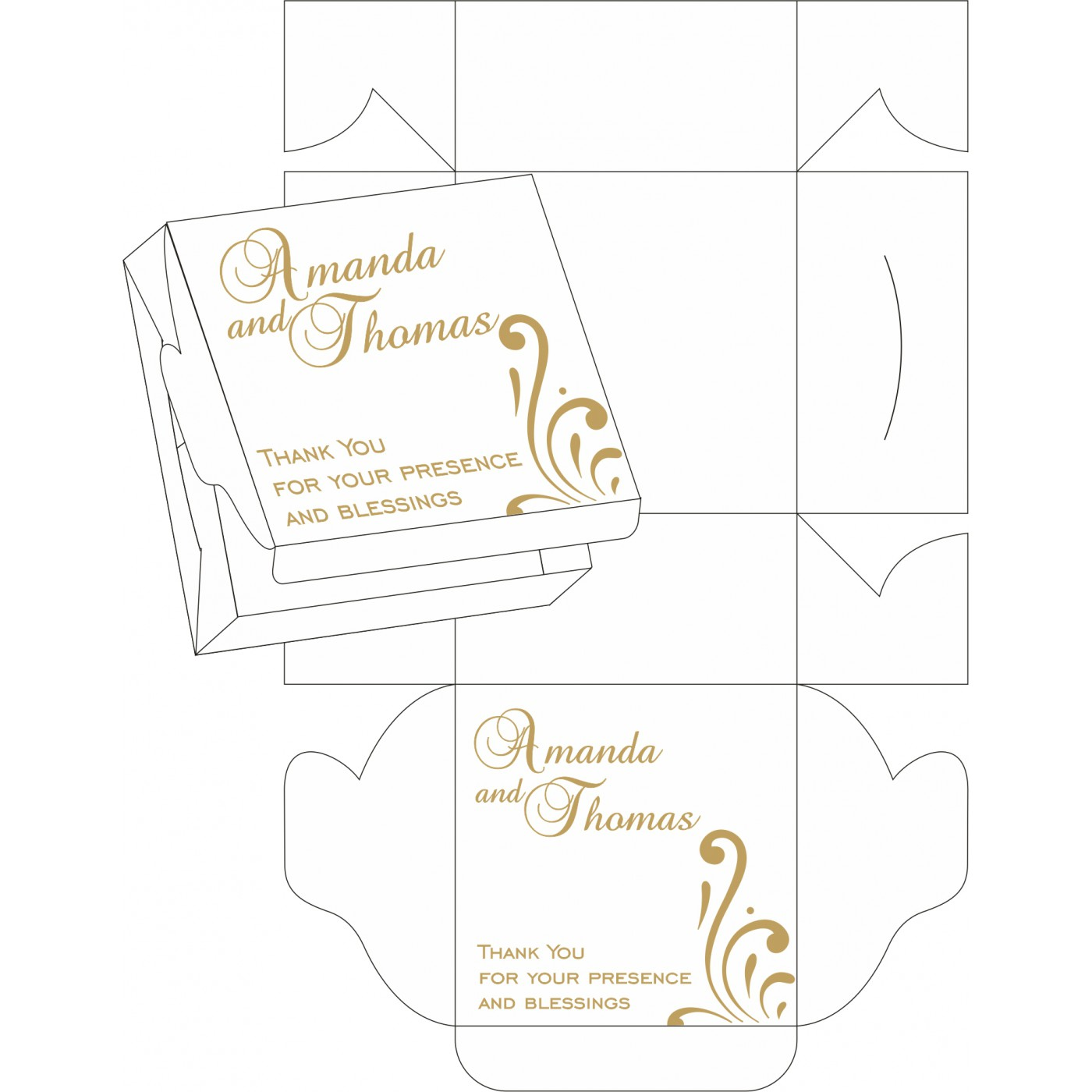 Sweet Boxes : CSB-8223D - IndianWeddingCards