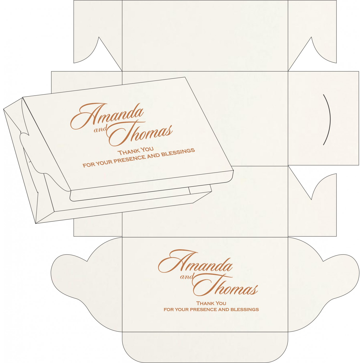 Sweet Boxes : CSB-8225J - IndianWeddingCards
