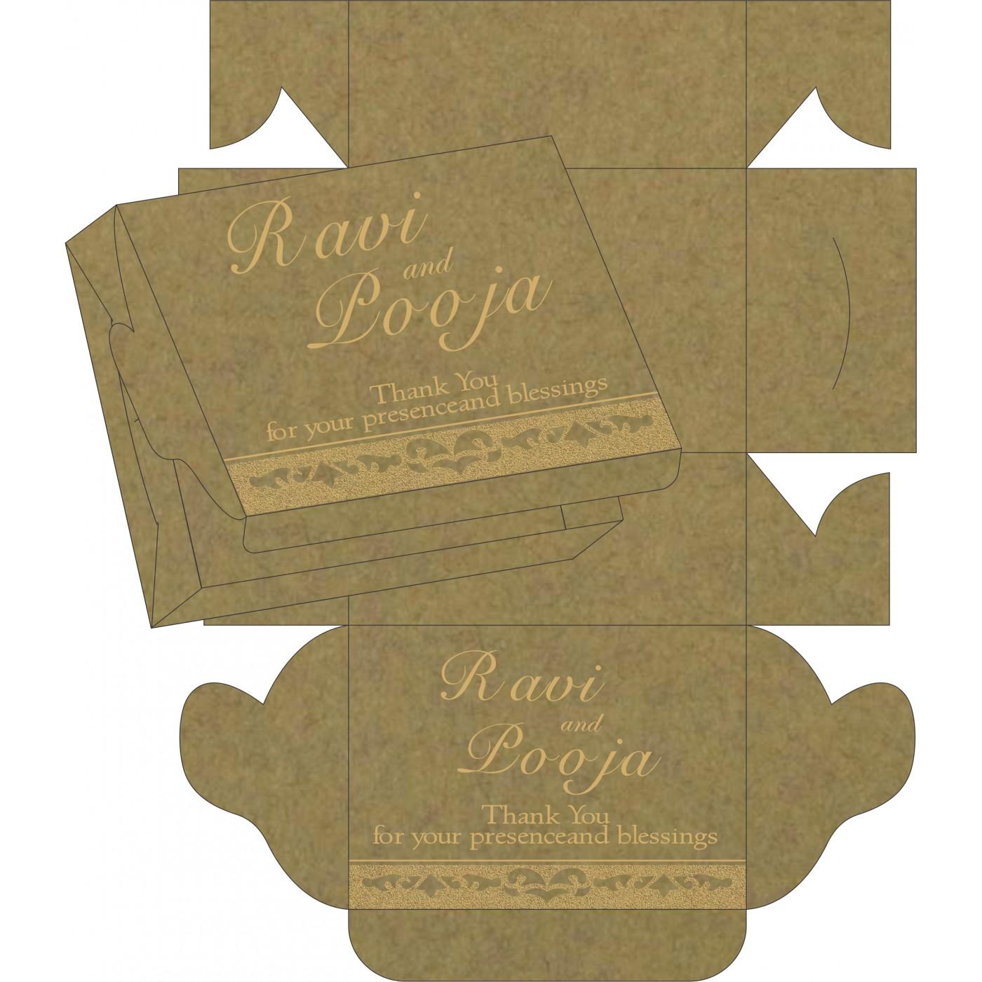 Sweet Boxes : CSB-8227F - IndianWeddingCards