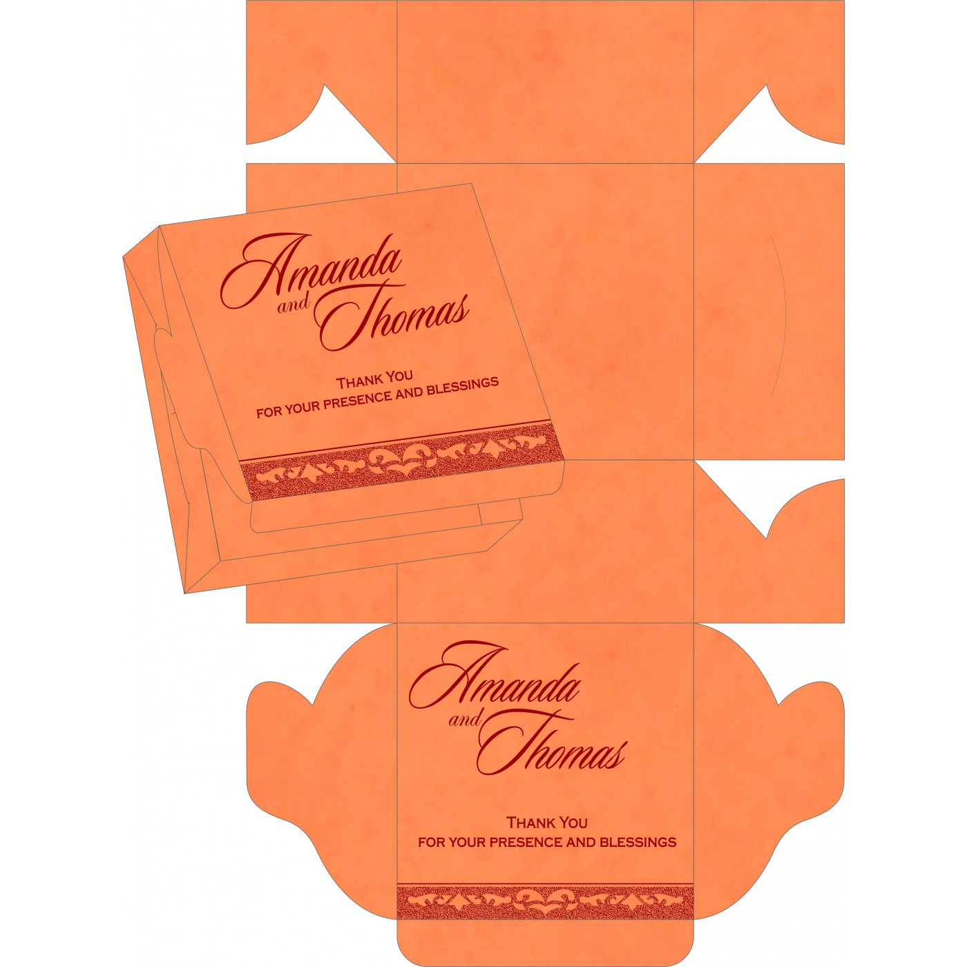 Sweet Boxes : CSB-8227N - IndianWeddingCards