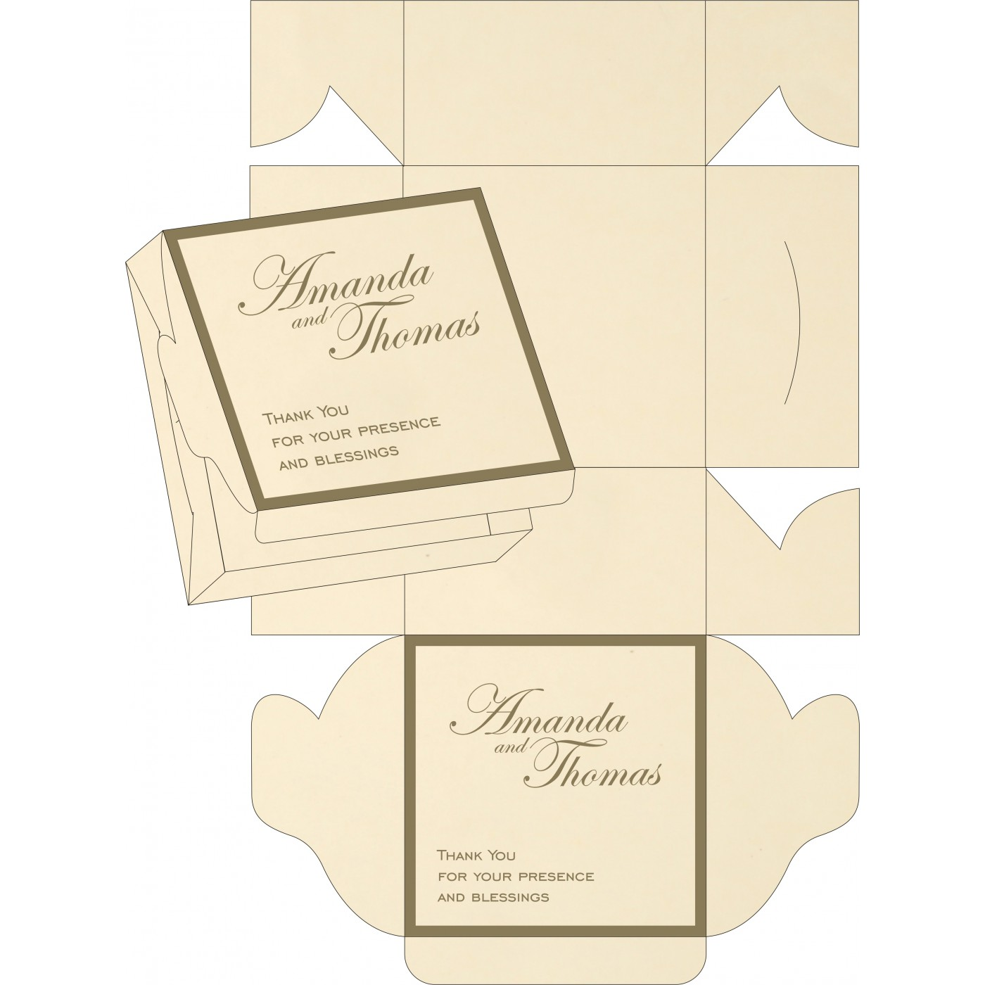 Sweet Boxes : CSB-8229P - IndianWeddingCards