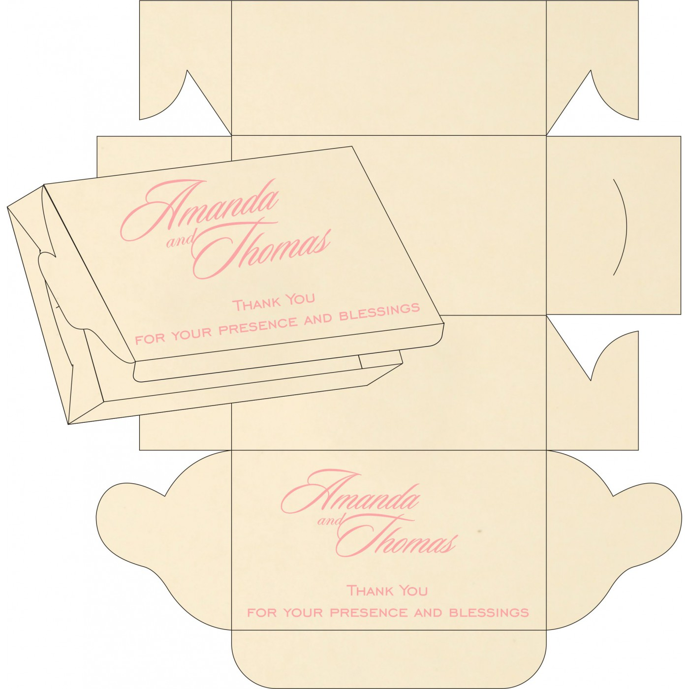 Sweet Boxes : CSB-8229Q - IndianWeddingCards