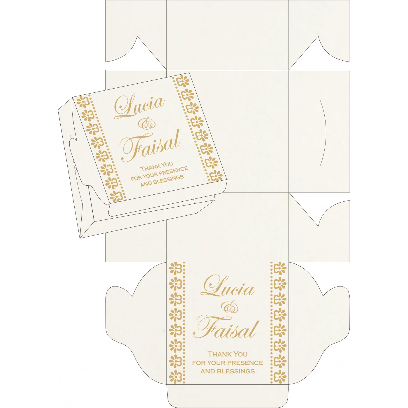 Sweet Boxes : CSB-8231J - IndianWeddingCards