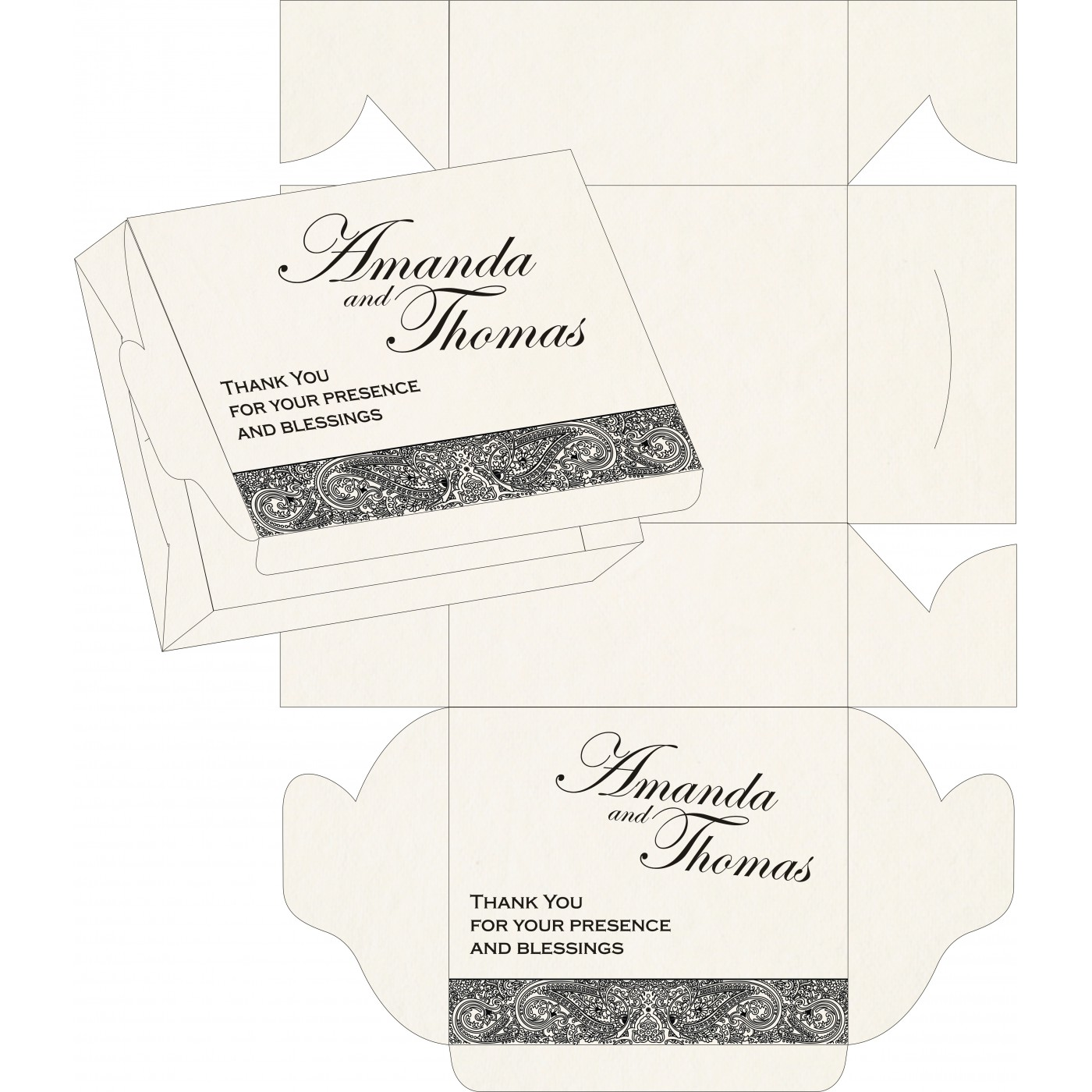 Sweet Boxes : CSB-8234A - IndianWeddingCards