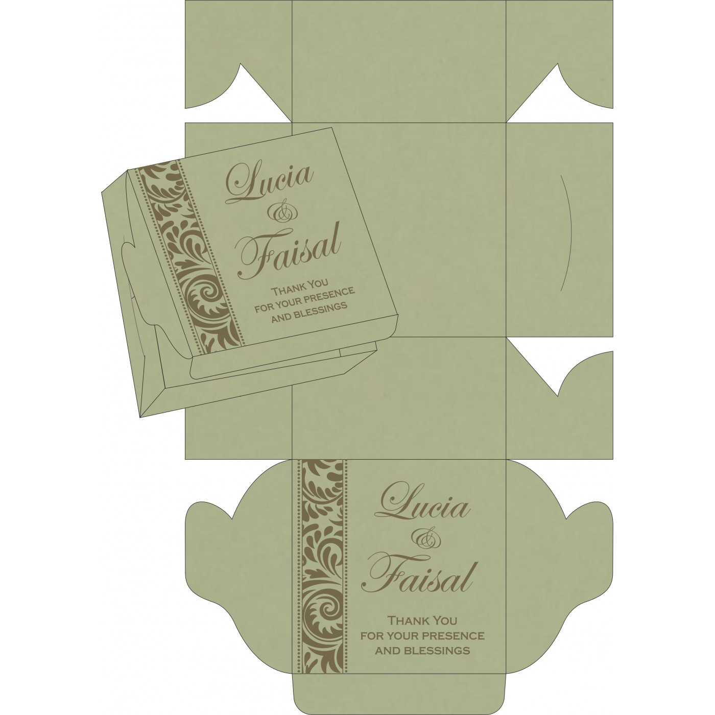 Sweet Boxes : CSB-8235A - IndianWeddingCards