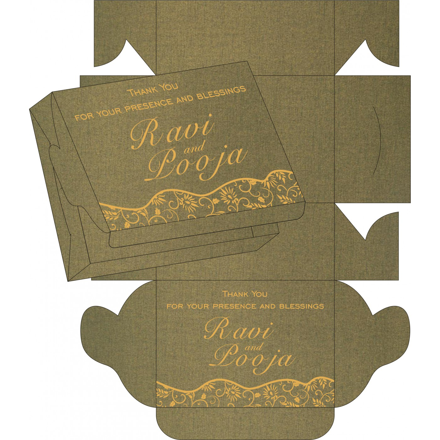 Sweet Boxes : CSB-8236H - IndianWeddingCards