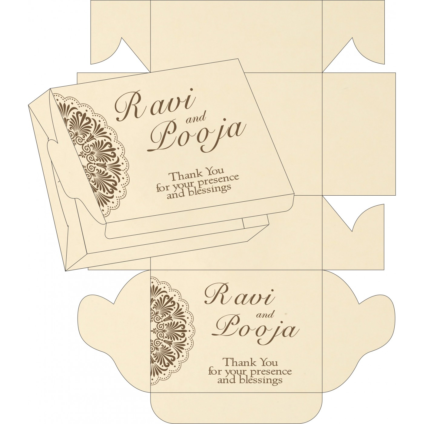 Sweet Boxes : CSB-8238G - IndianWeddingCards