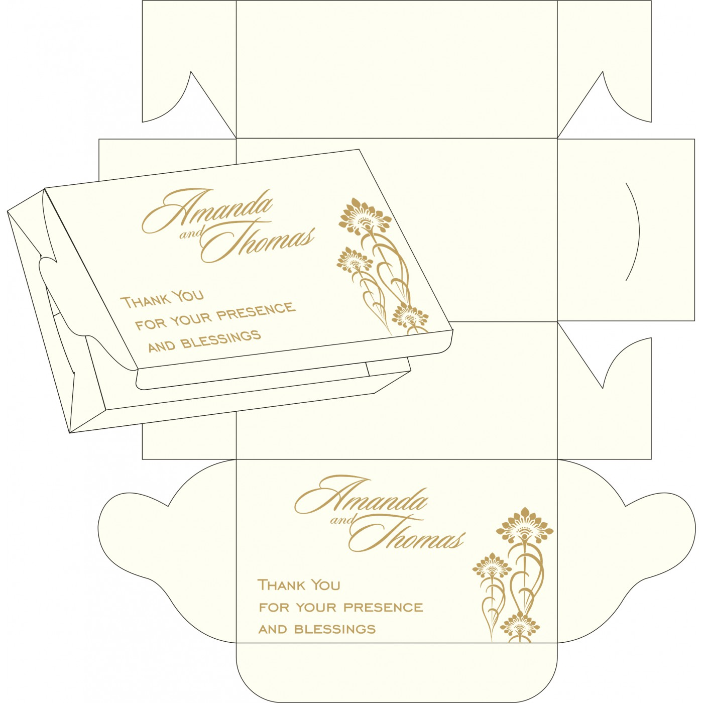 Sweet Boxes : CSB-8239C - IndianWeddingCards
