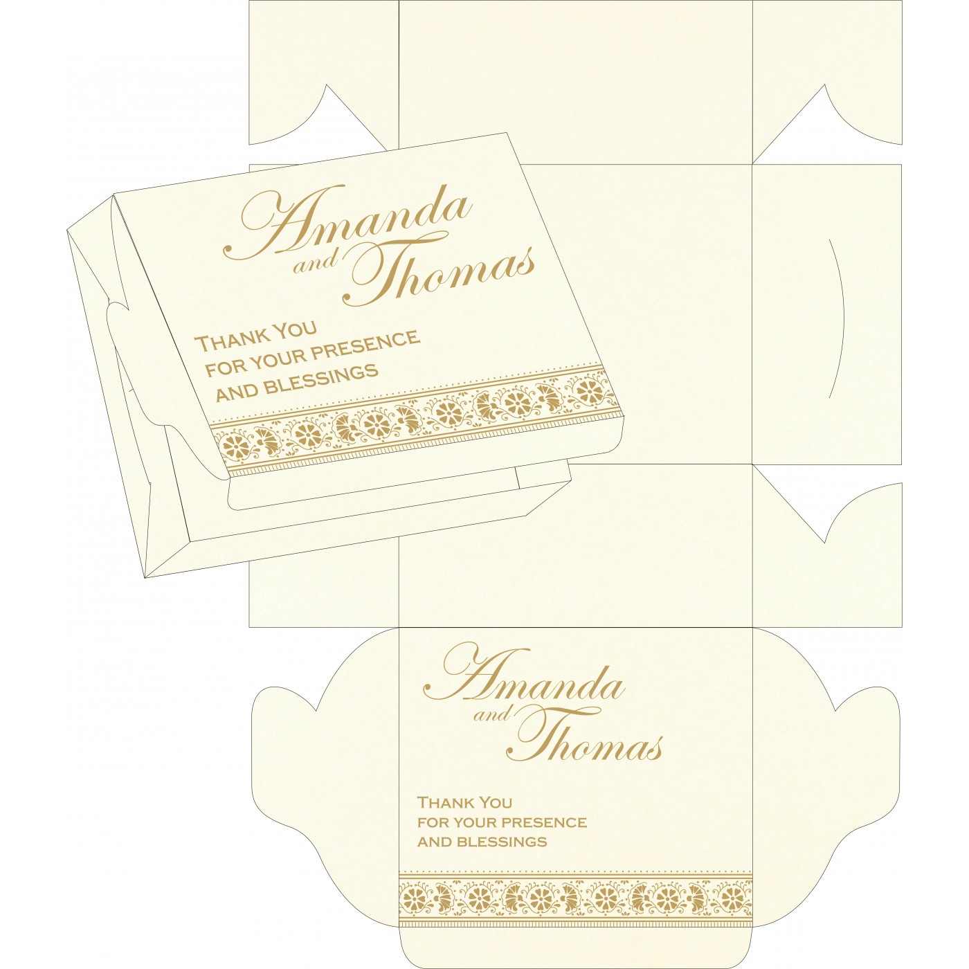 Sweet Boxes : CSB-8242A - IndianWeddingCards