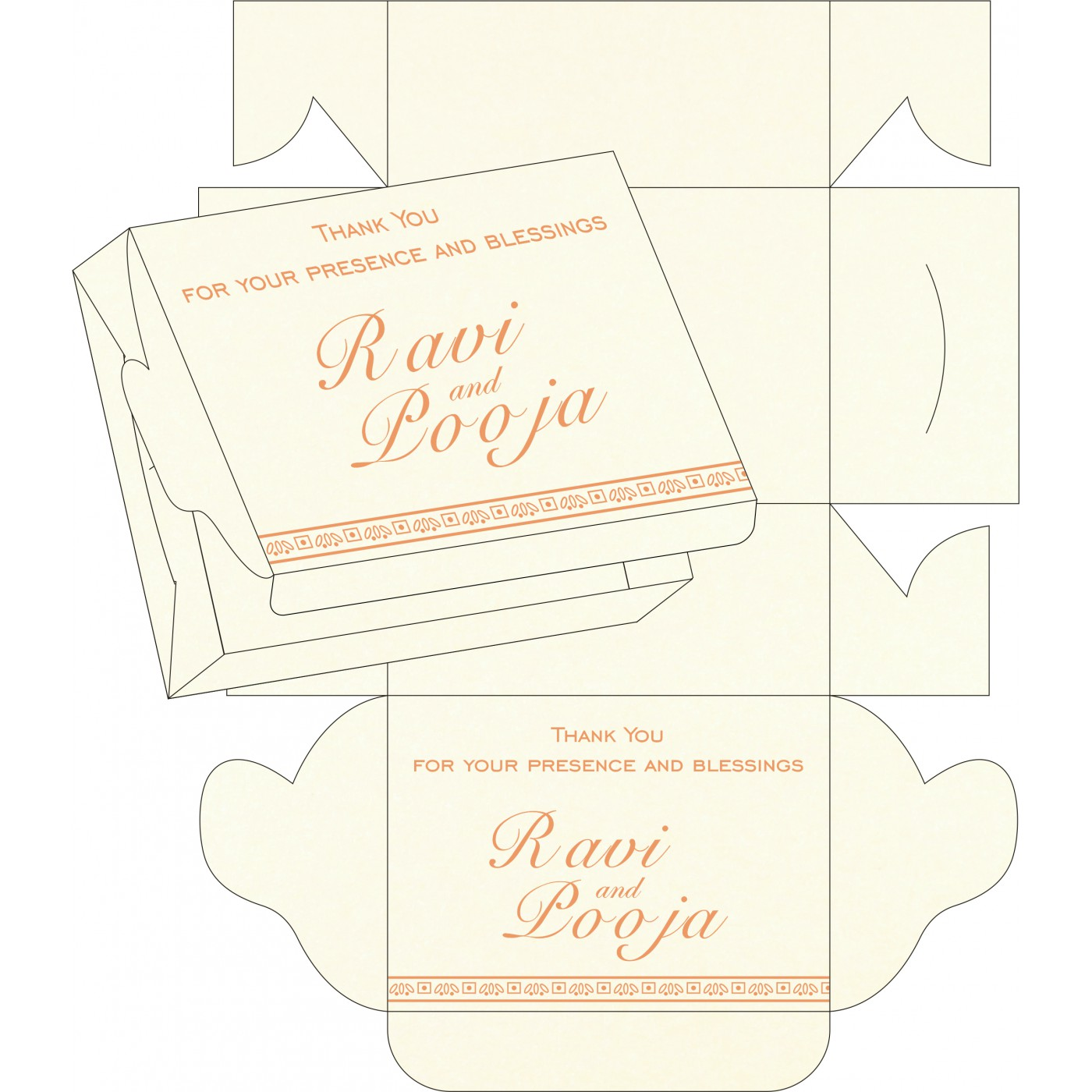 Sweet Boxes : CSB-8242L - IndianWeddingCards