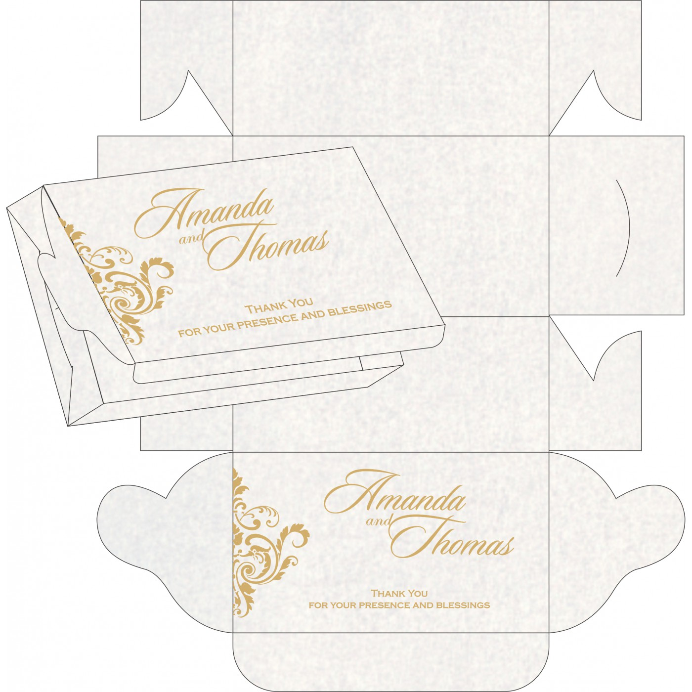 Sweet Boxes : CSB-8244H - IndianWeddingCards